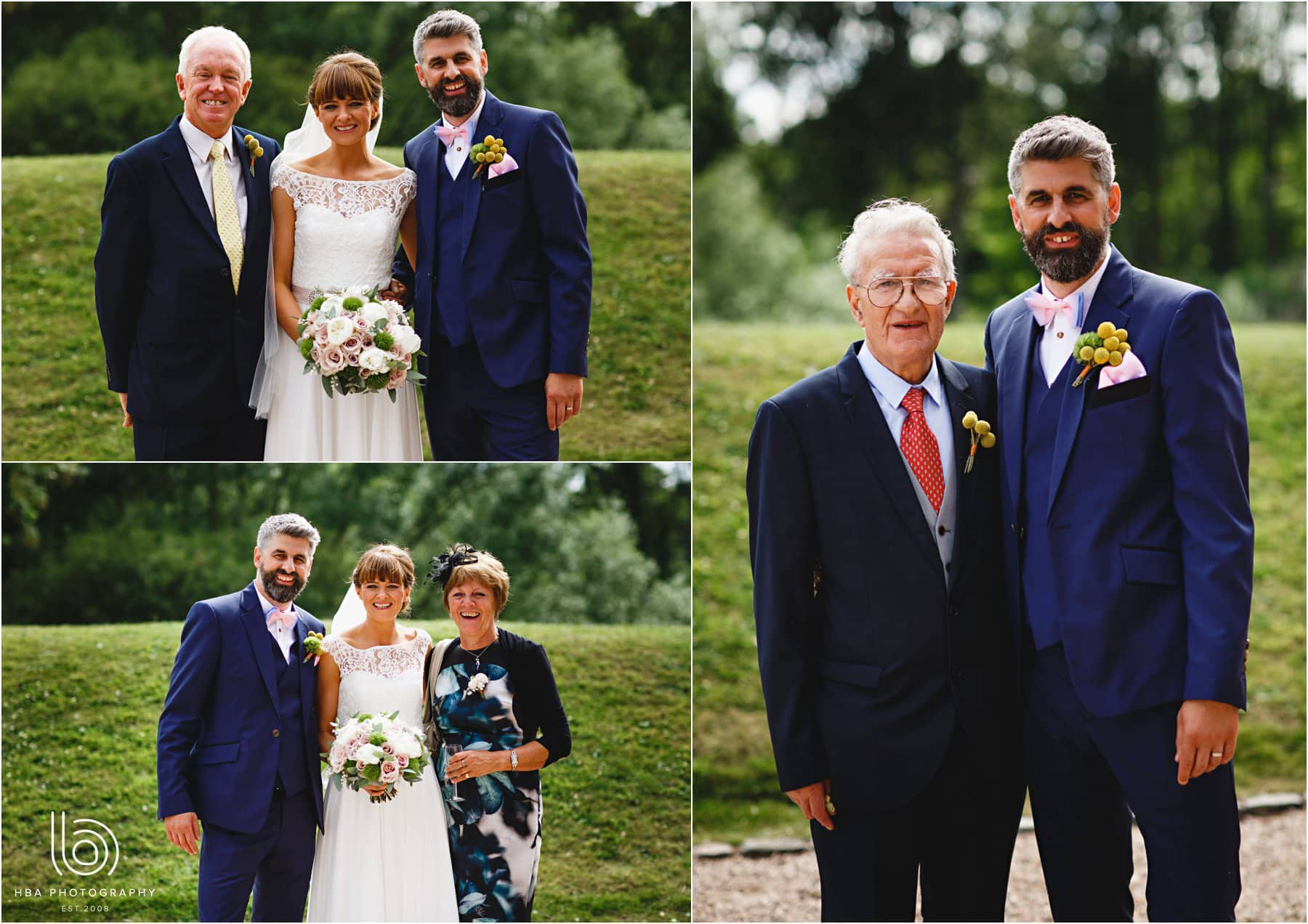 the bride & groom with their parents