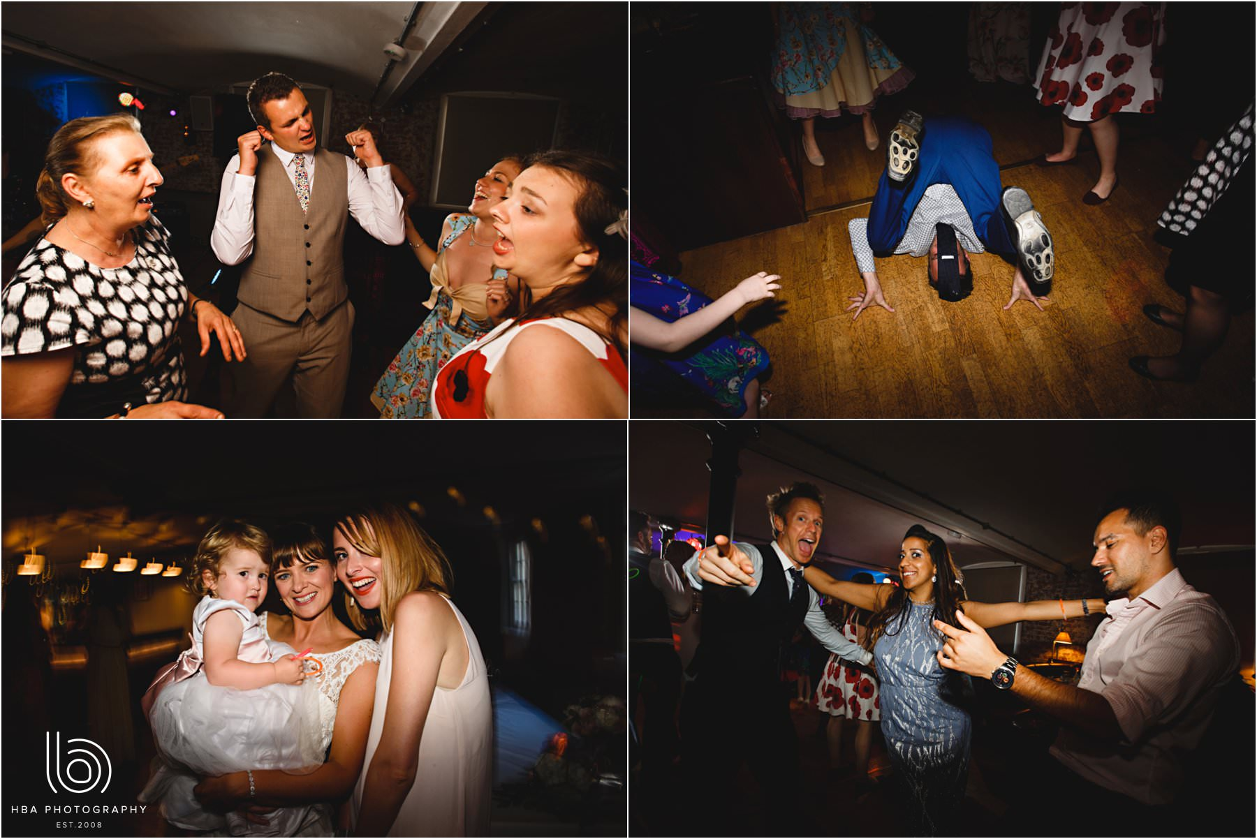 wedding guests dancing at the west mill
