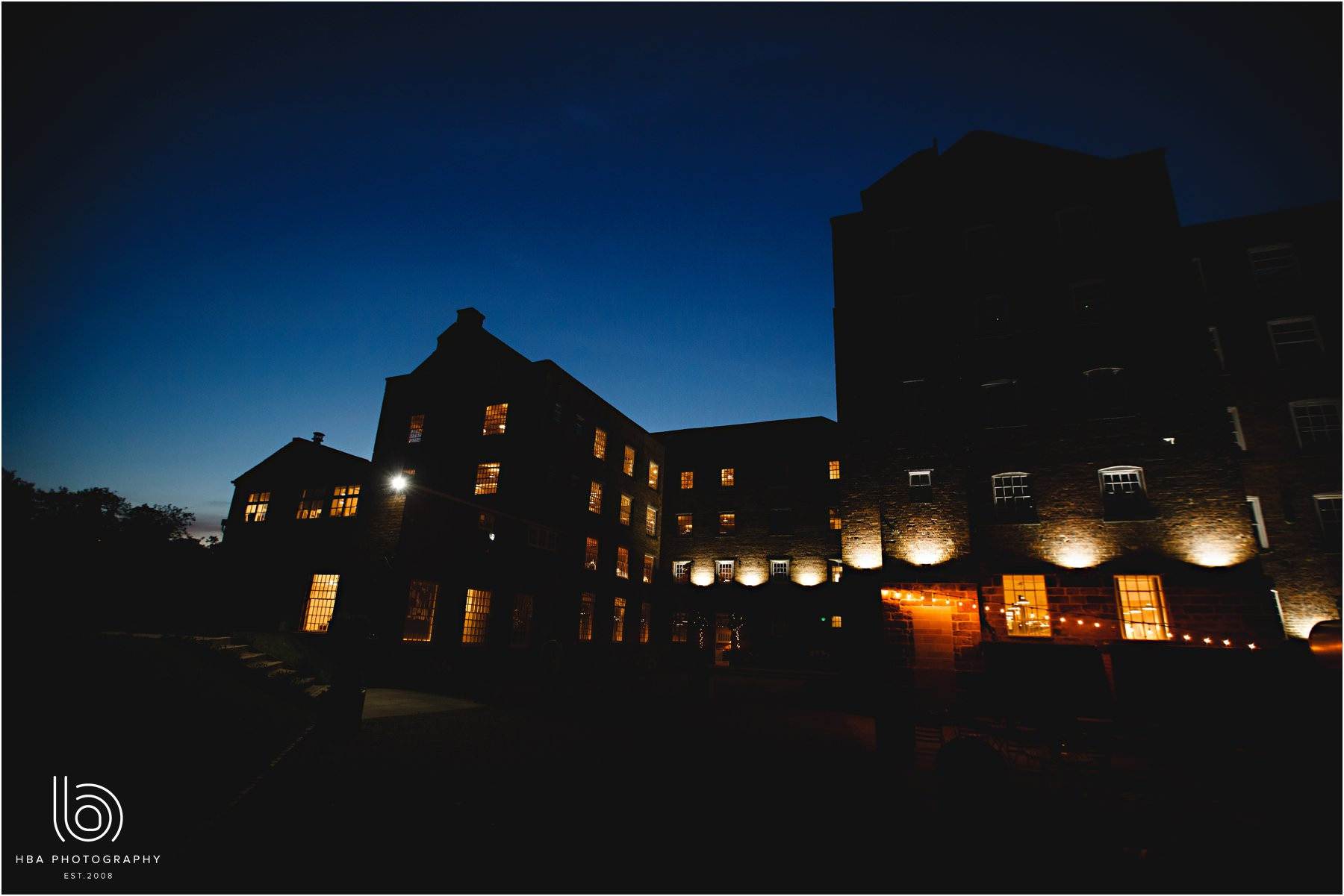 The West Mill at night