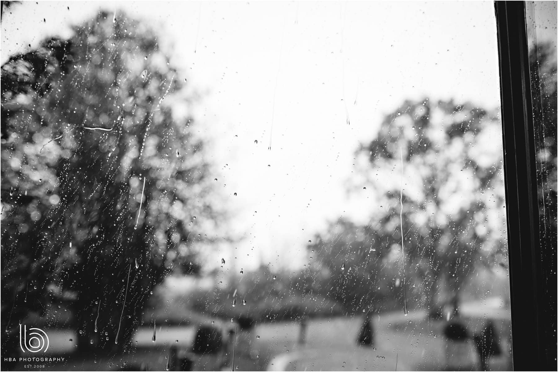 the rain at the window