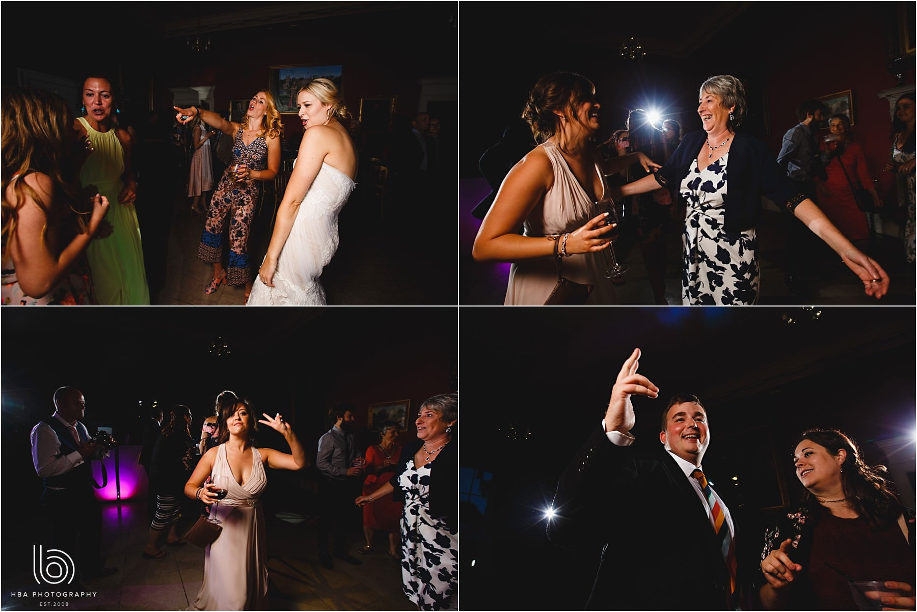 the wedding guests dancing