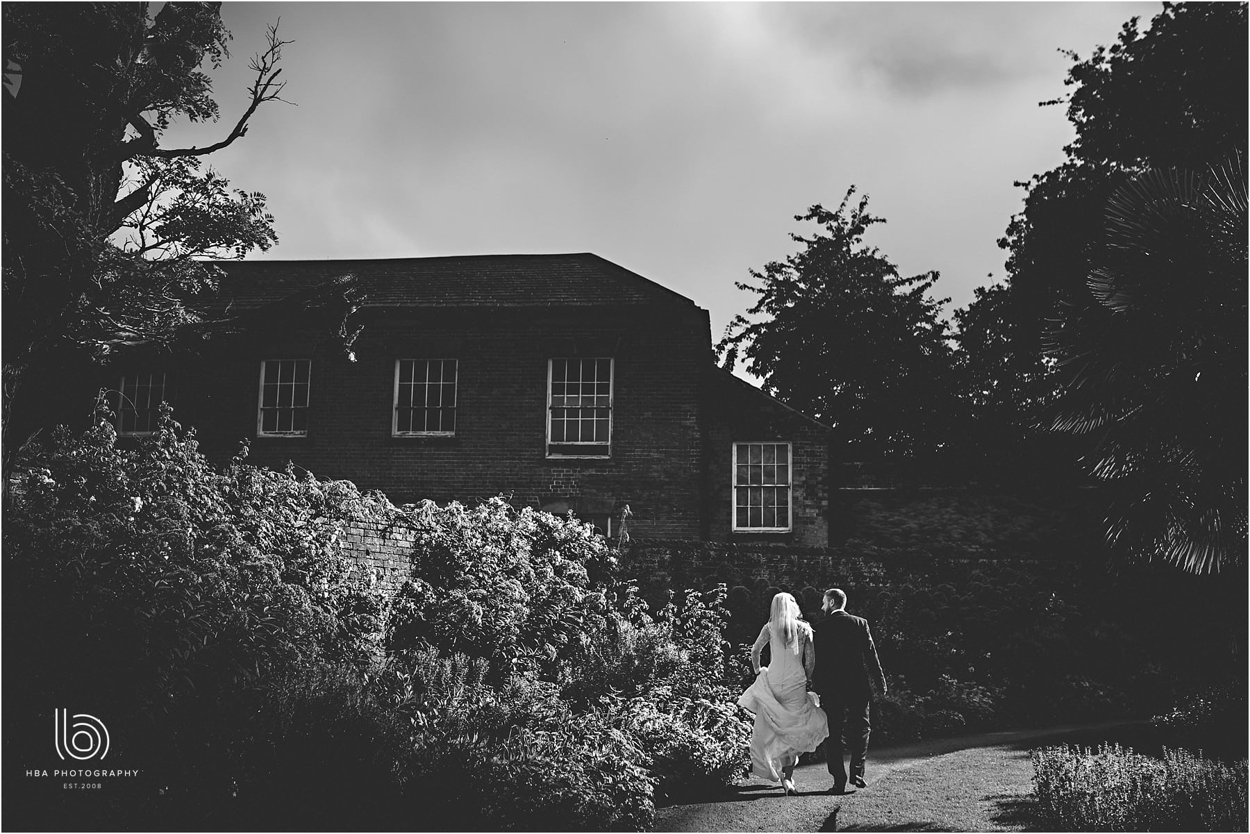 the bride and groom at Calke Abbey