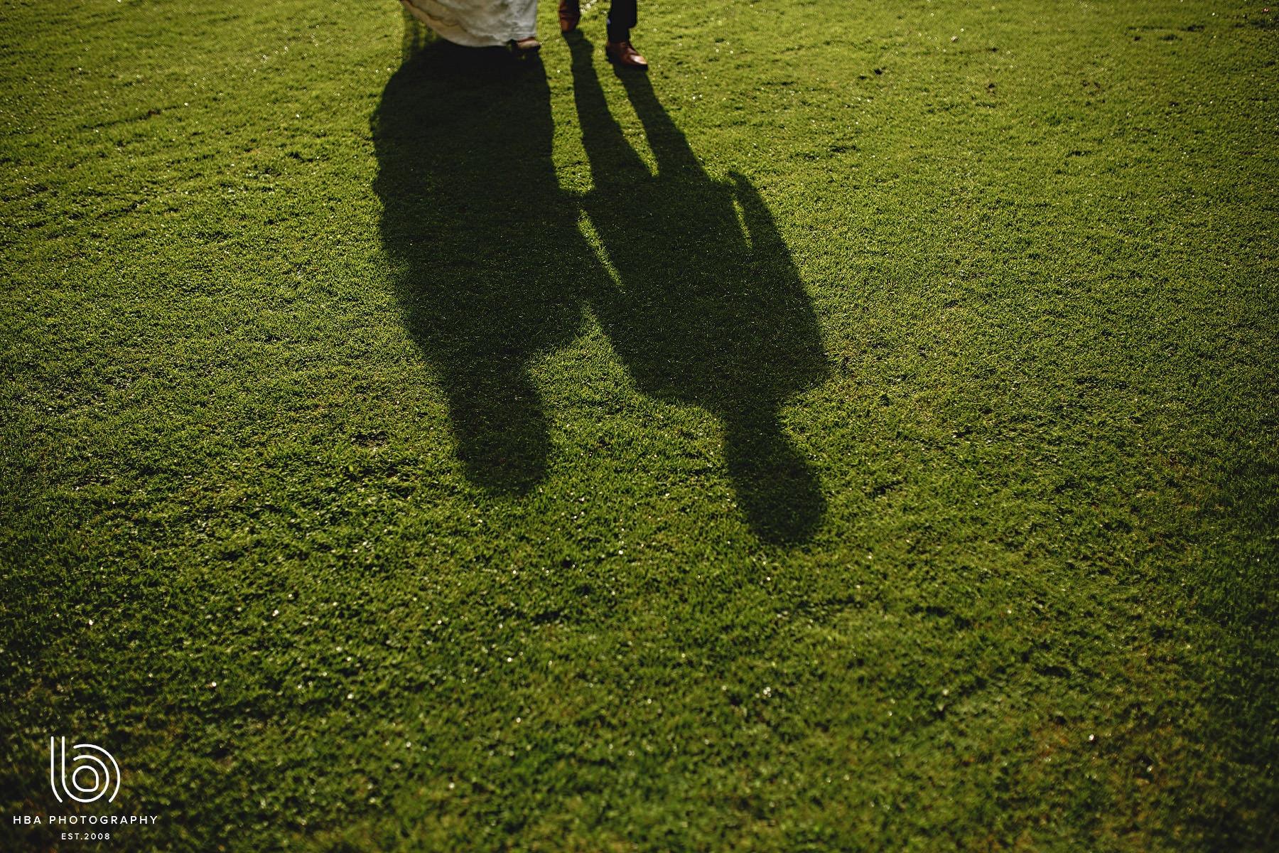 bride & groom's shadow