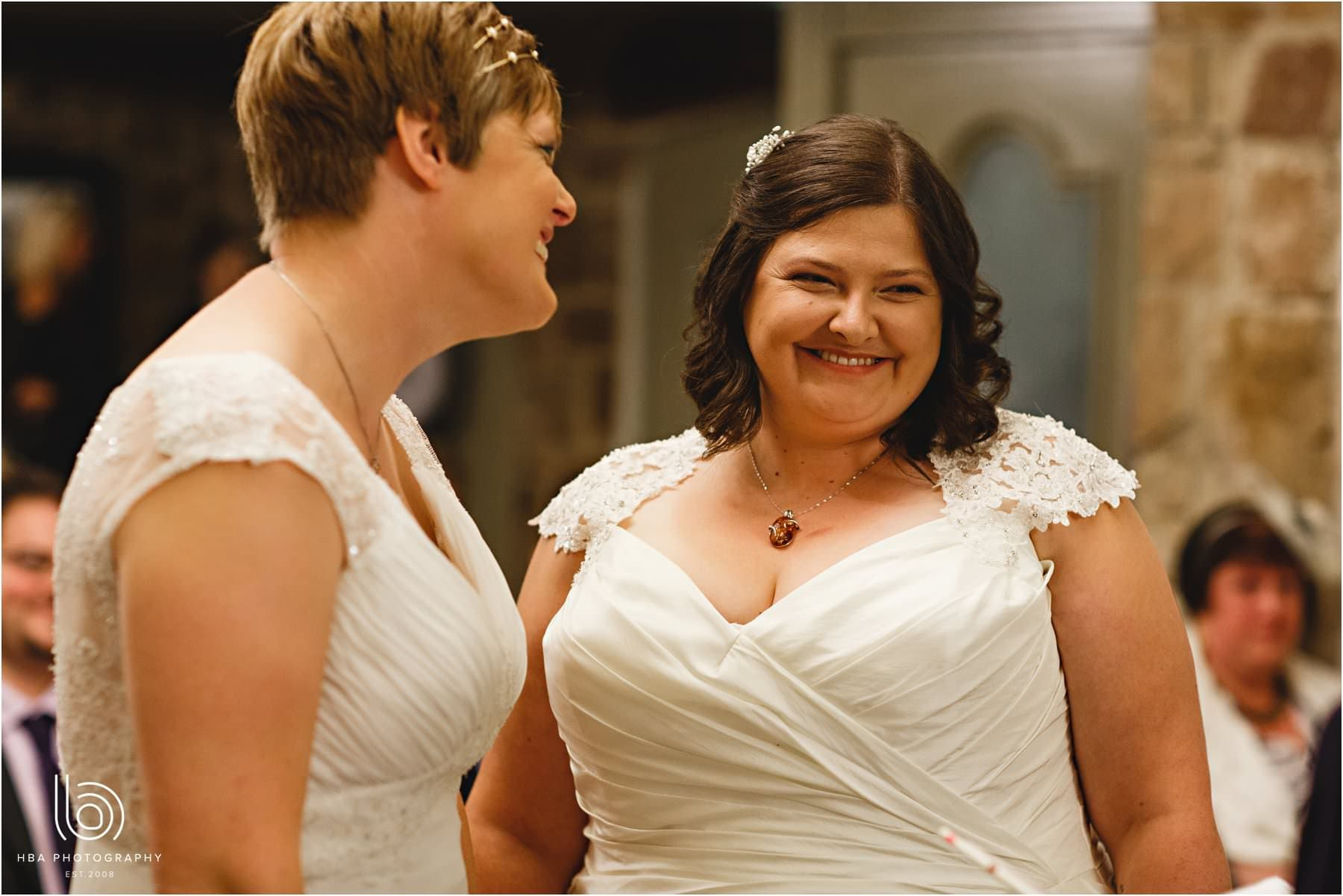 a same sex marriage at Peak Edge Hotel