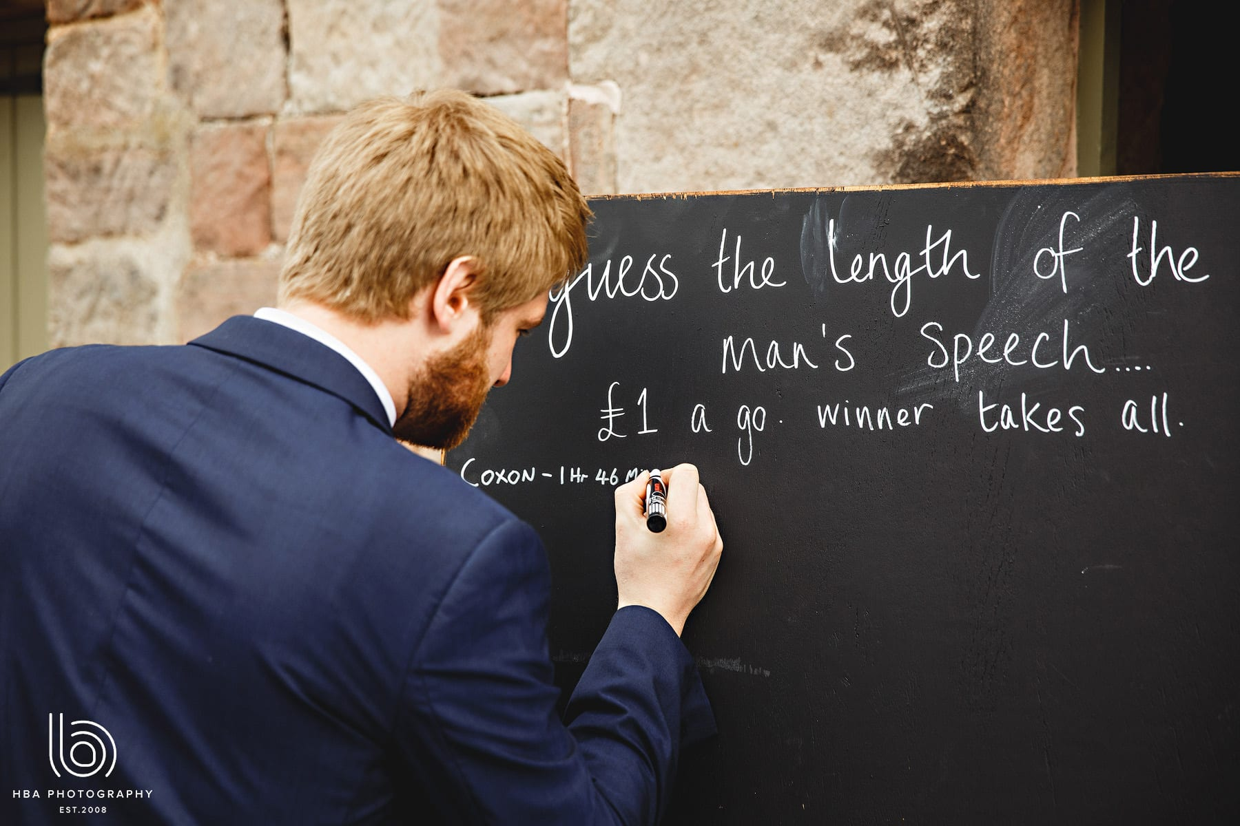 the best man guessing the length of speeches