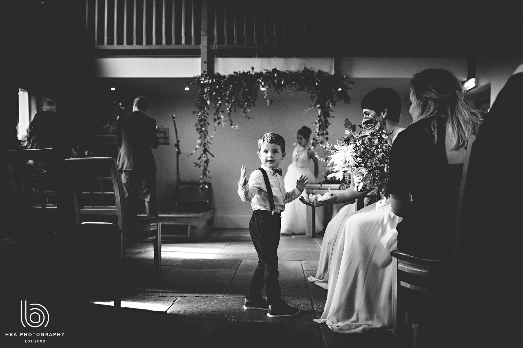 a little boy during the ceremony