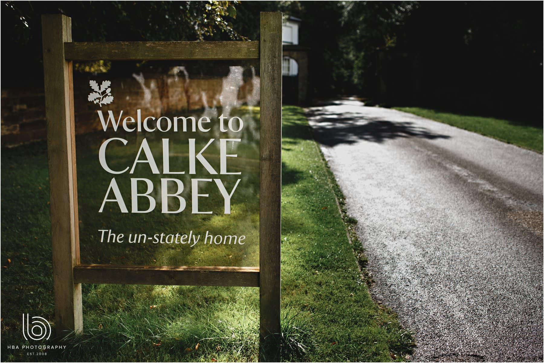 Welcome to Calke Abbey sign