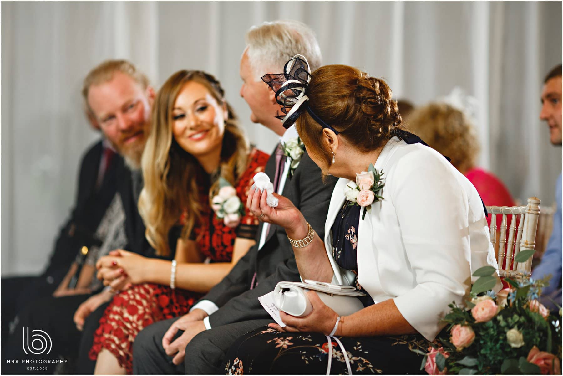 guests in tears during the ceremony