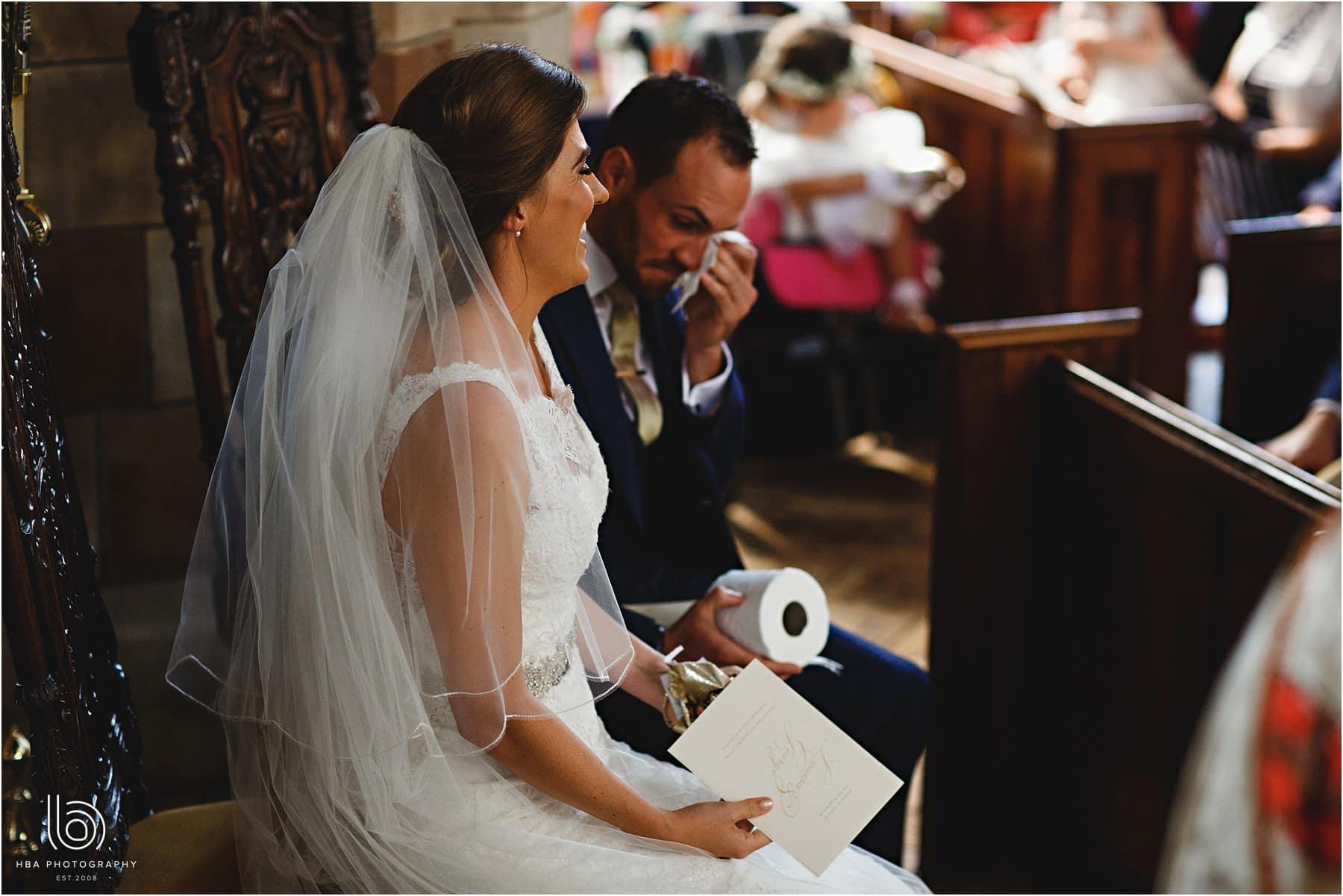the groom hvaing a few tears