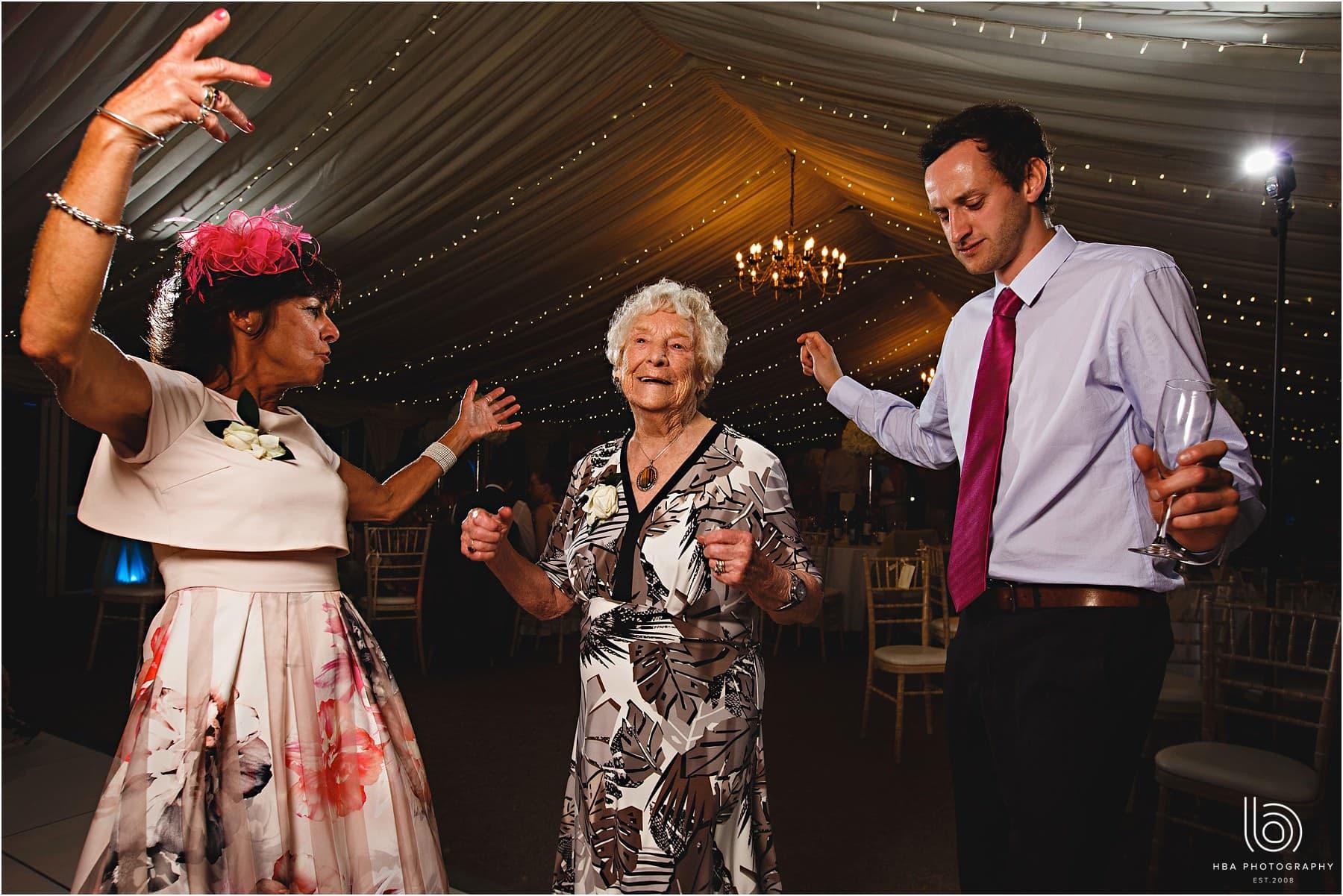 grandma dancing at the wedding