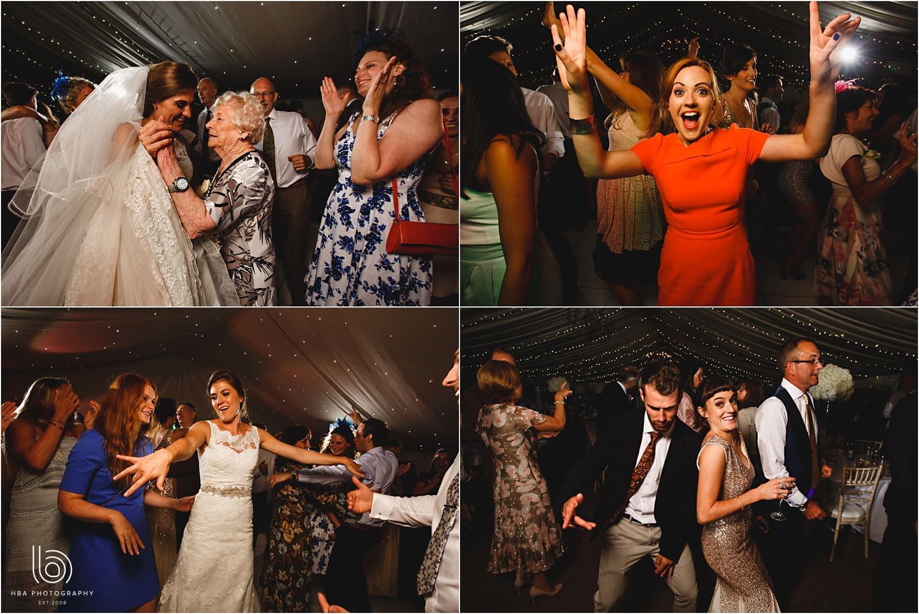 everyone dancing at Tissington Hall