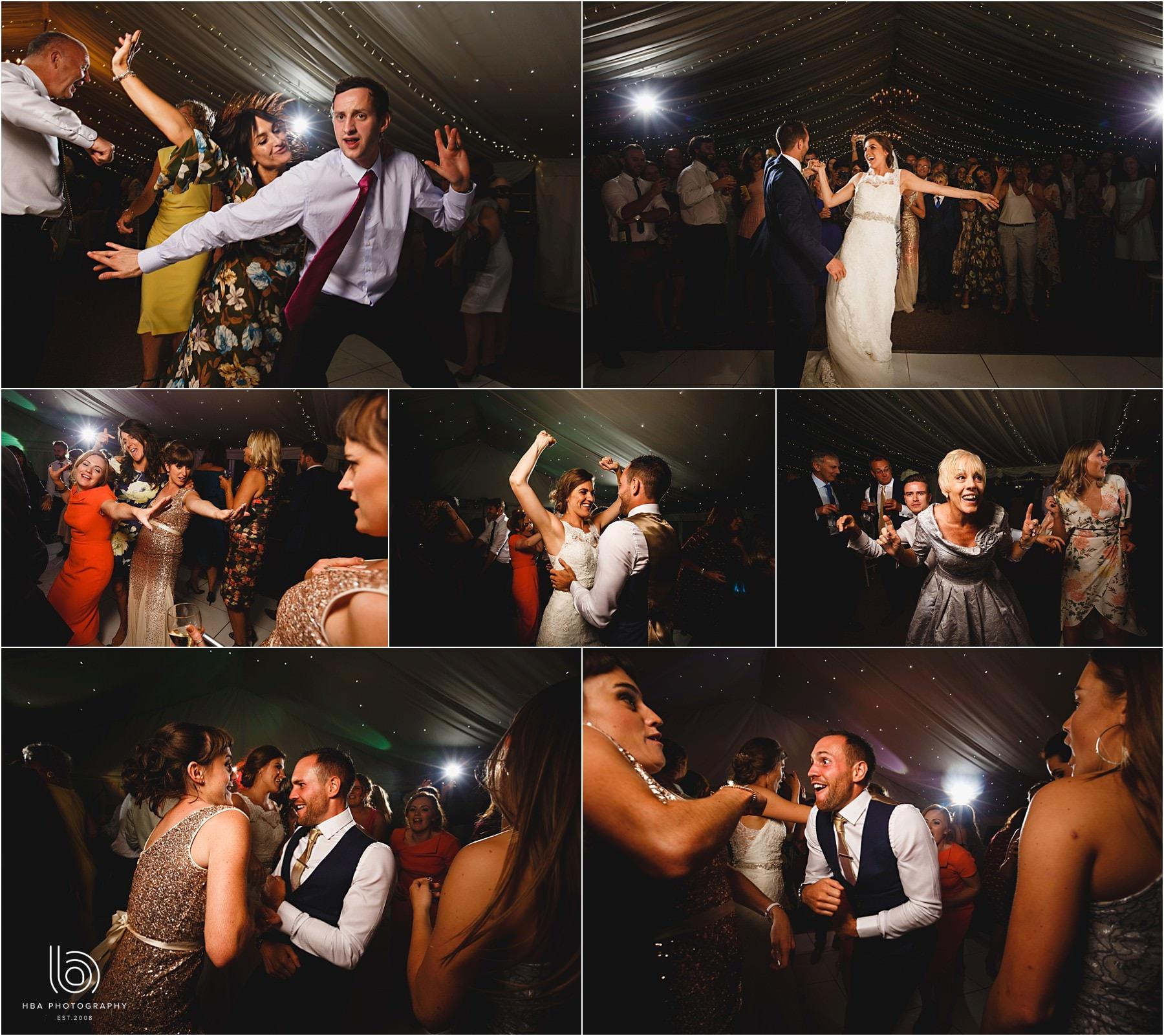 the evening wedding reception