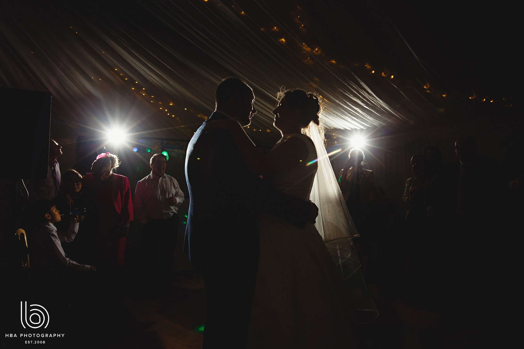 the bride & groom's first dance at Hartington Hall