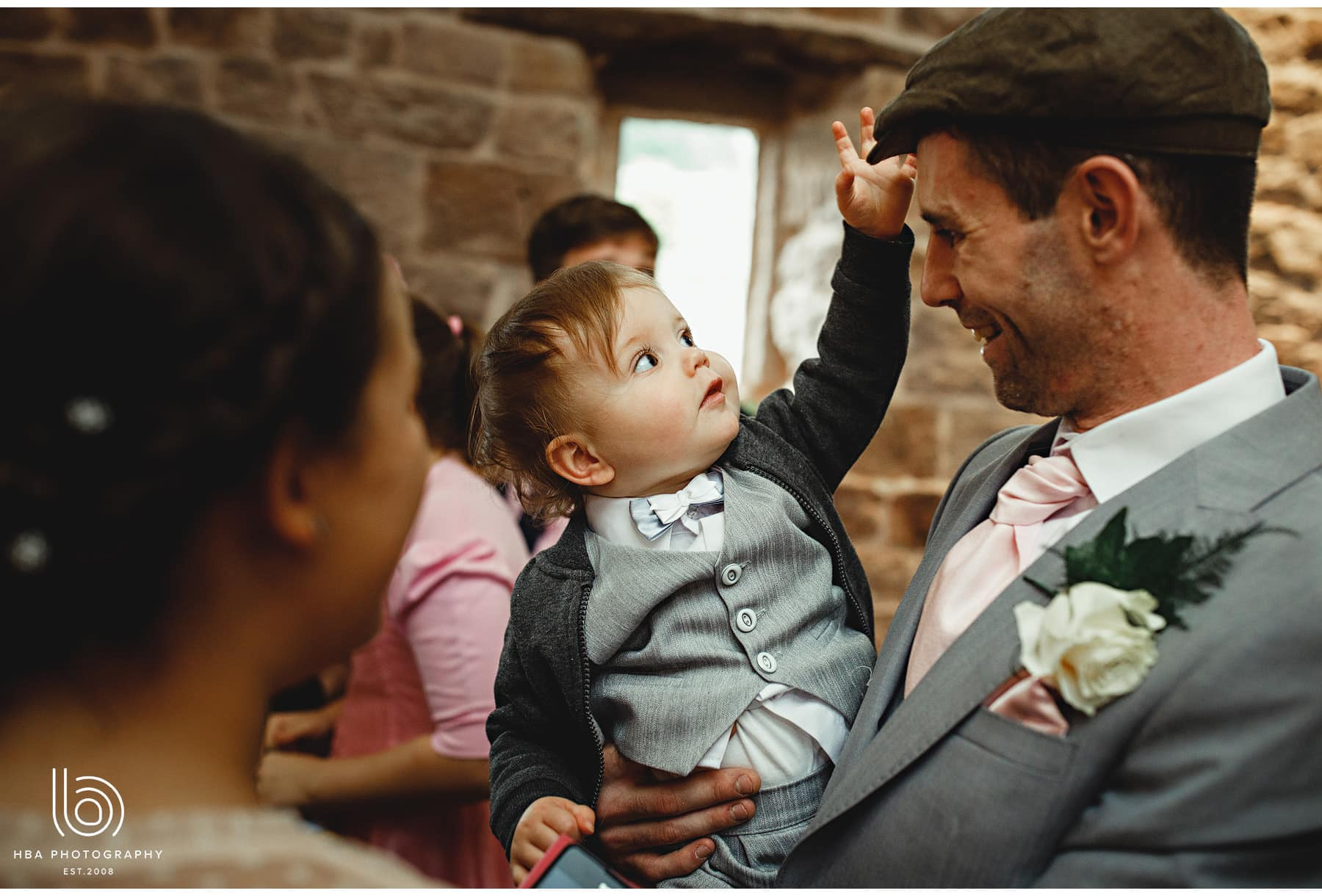 a child at the wedding