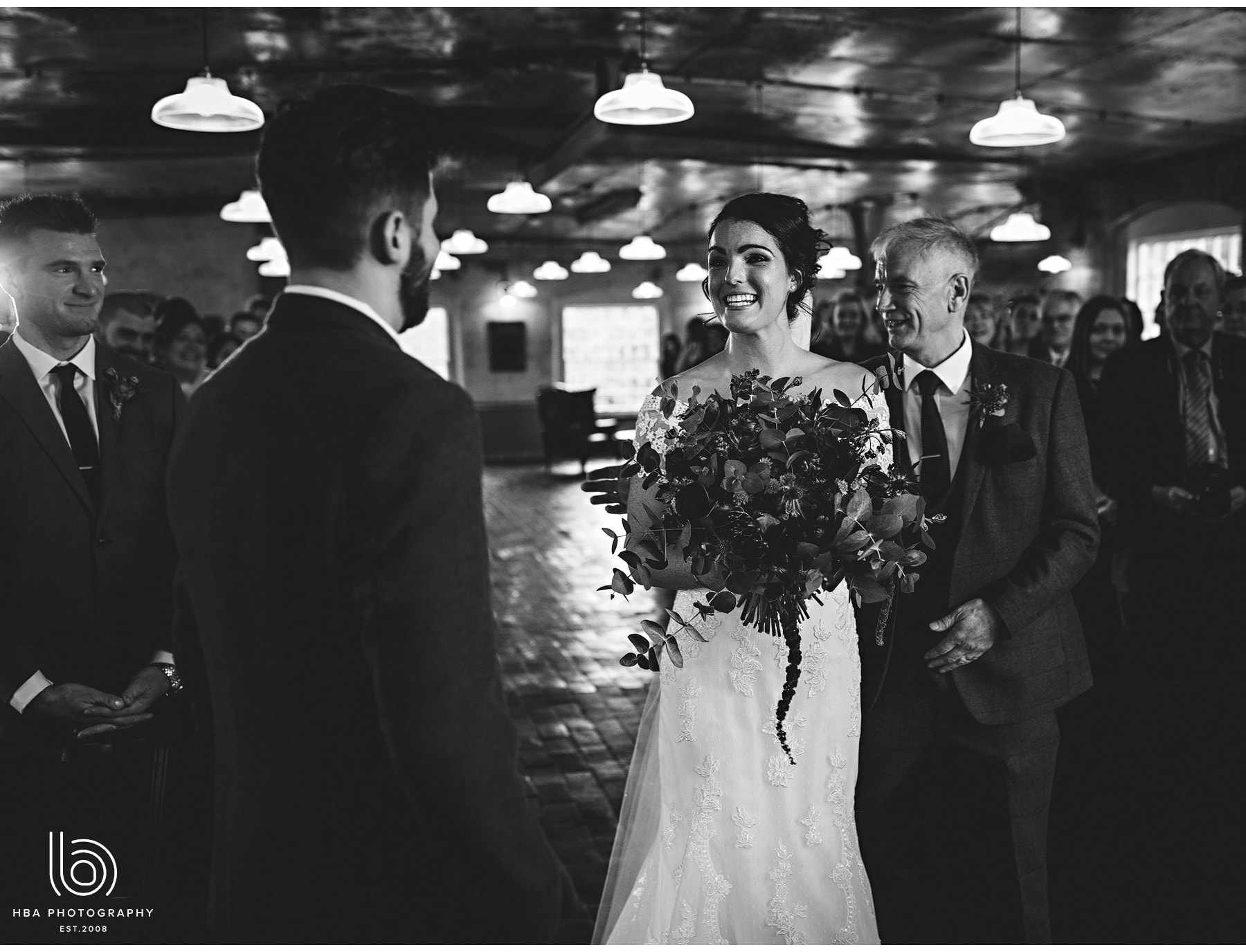 the bride seeing the groom