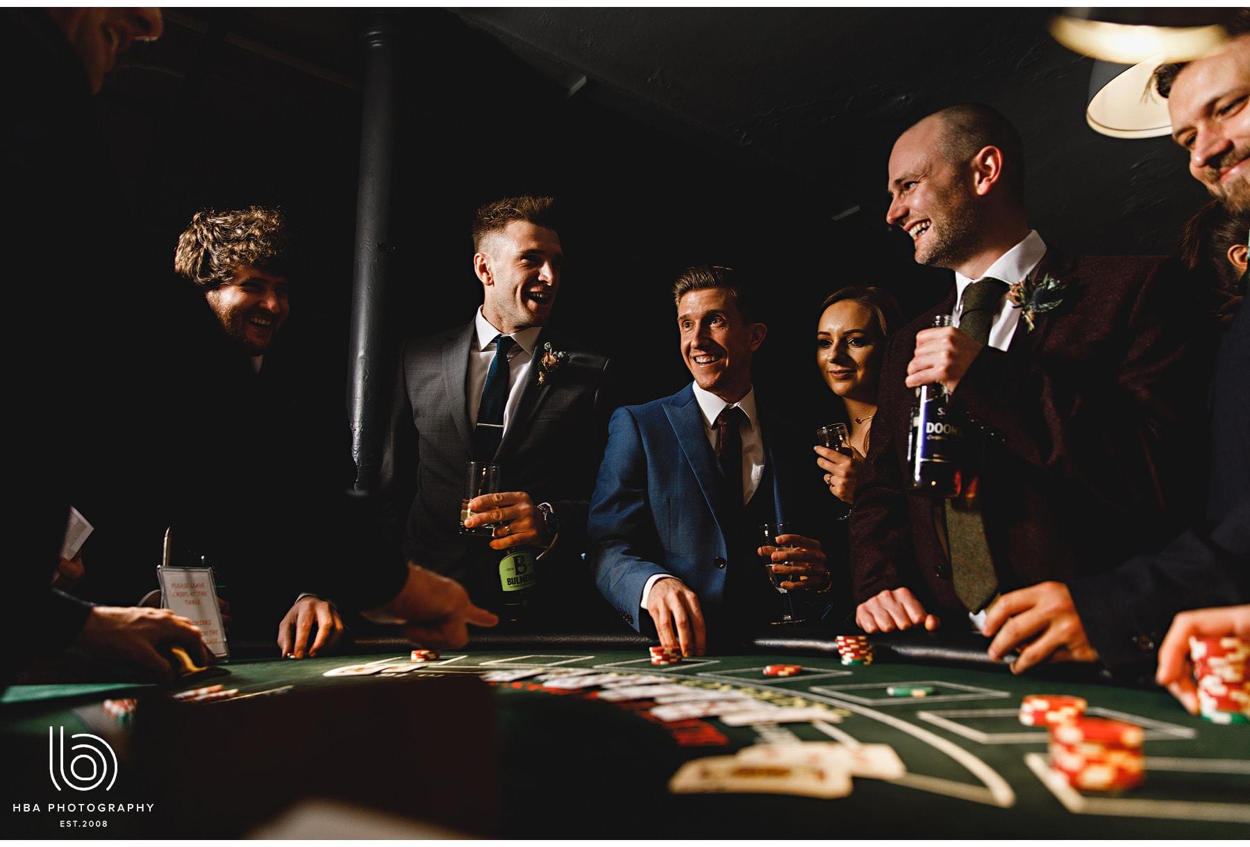 guests playing blackjack