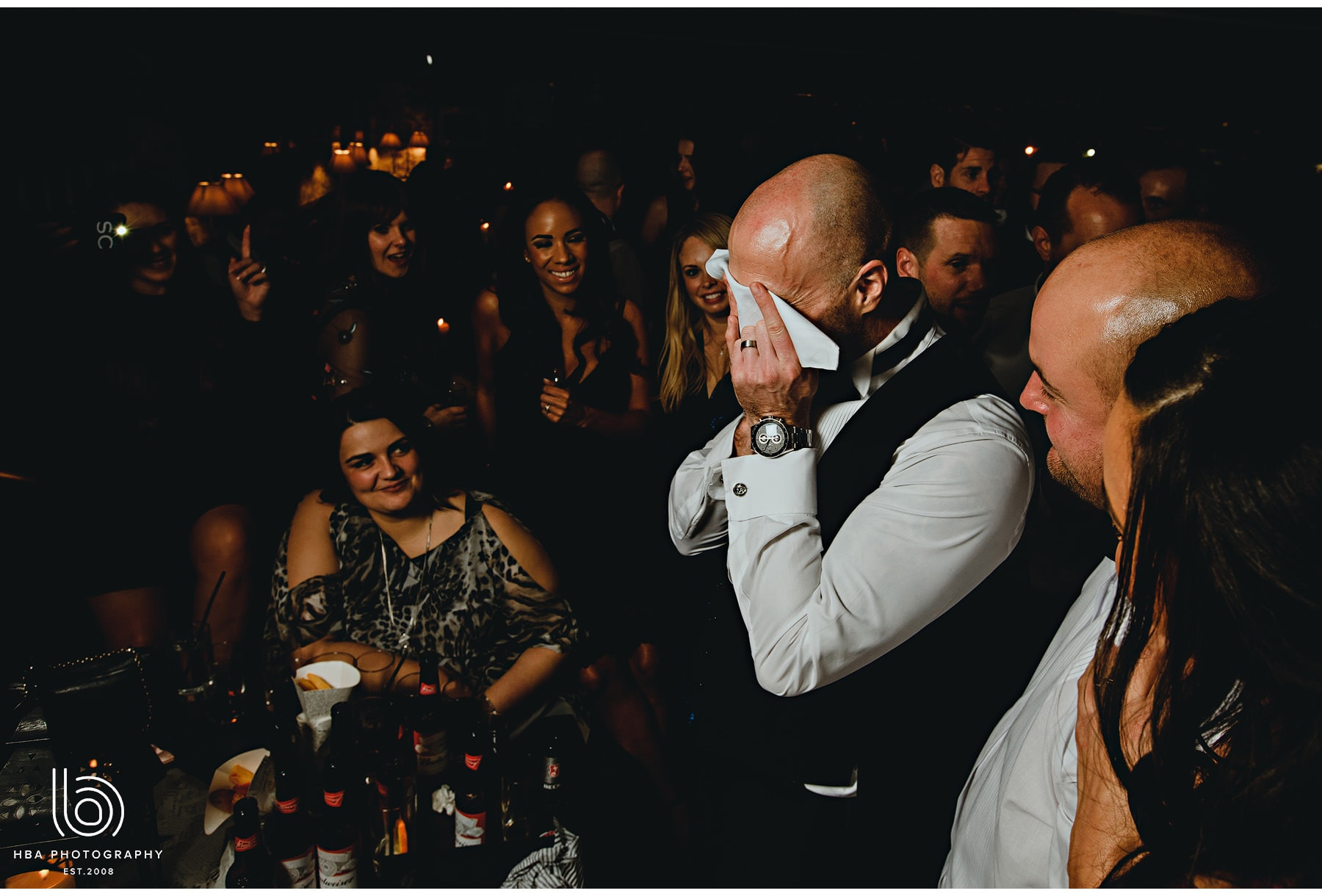 the groom in tears