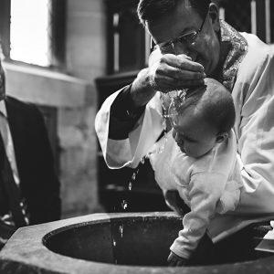 black and white christening photos