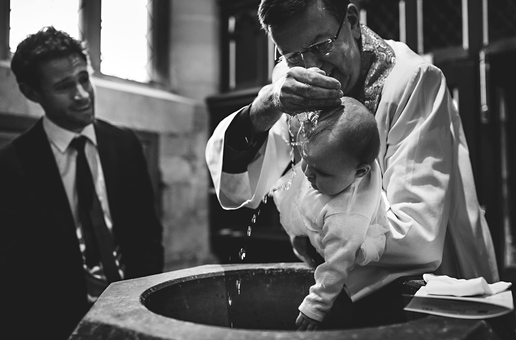 black and white christening photos