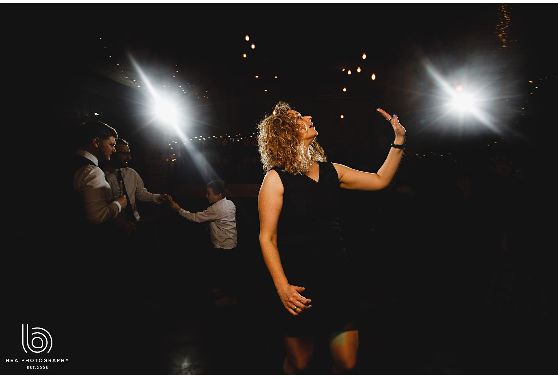 wedding guests dancing at Park Farmhouse