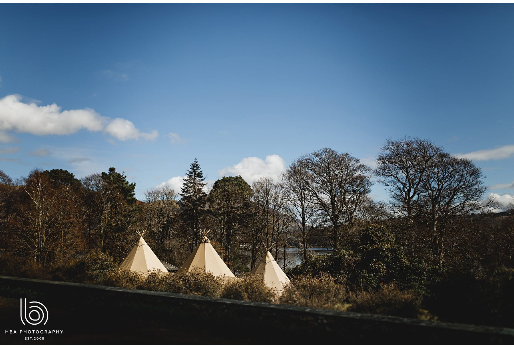 the tipi at Lingholm estate