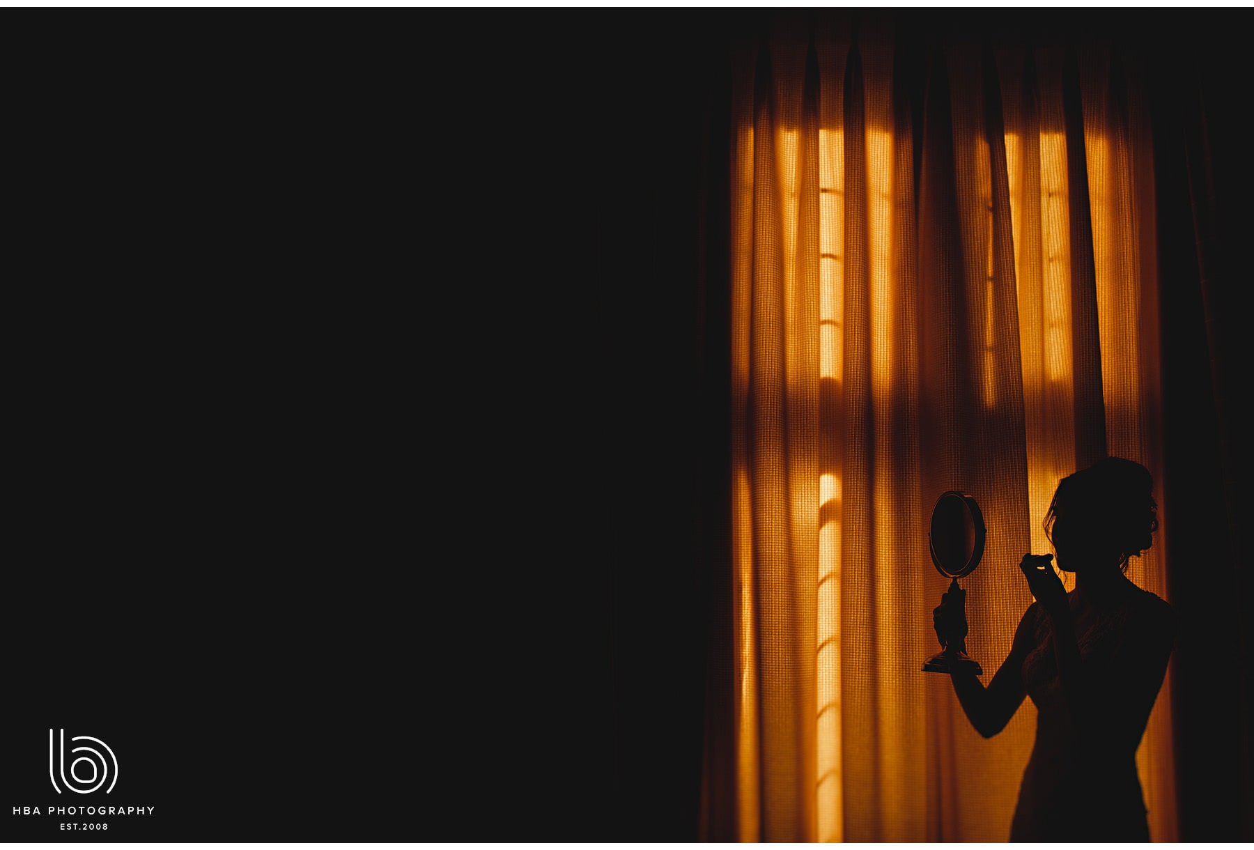 the bride in silhouette