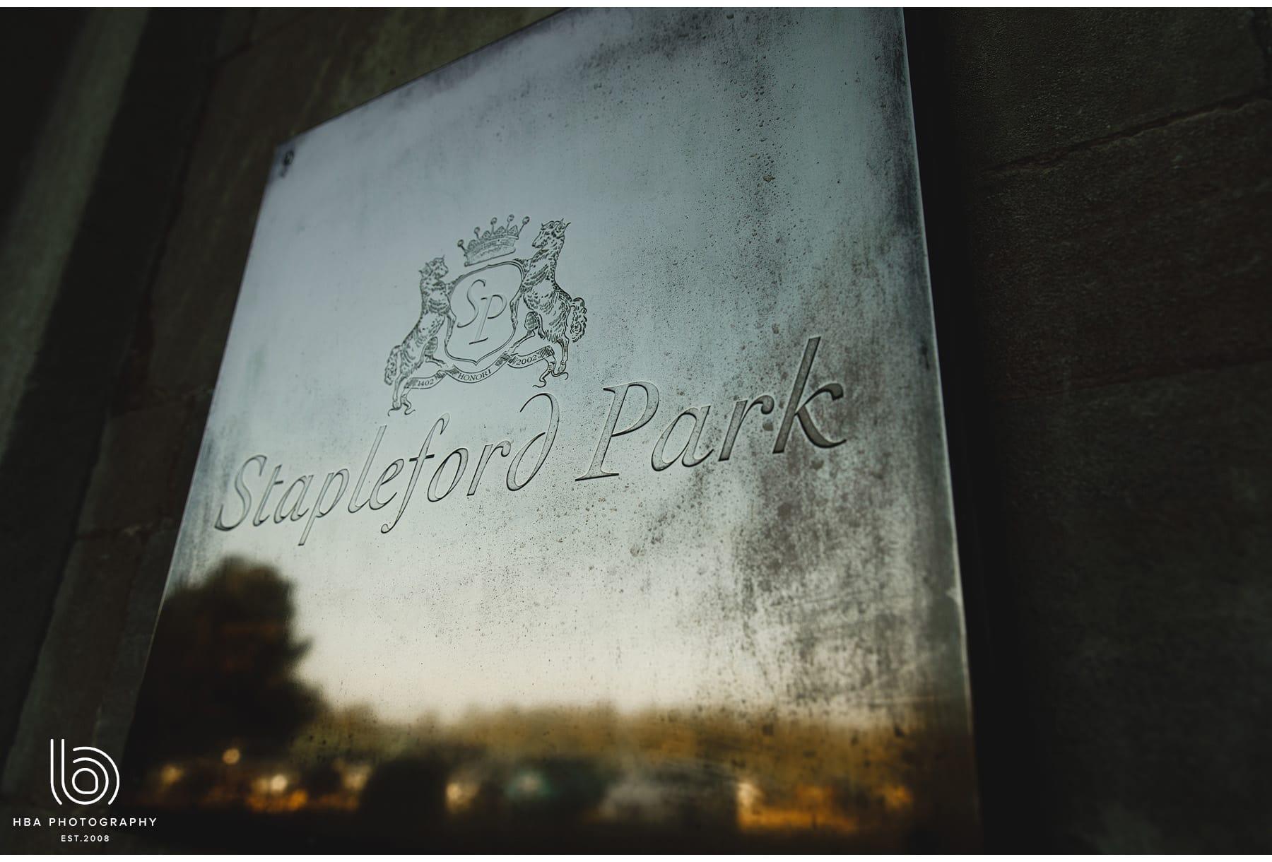Stapleford Park sign