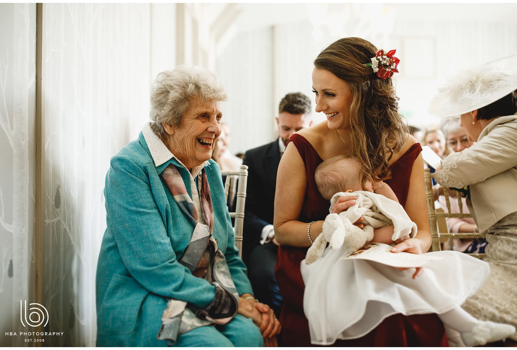gran smiling during ceremony