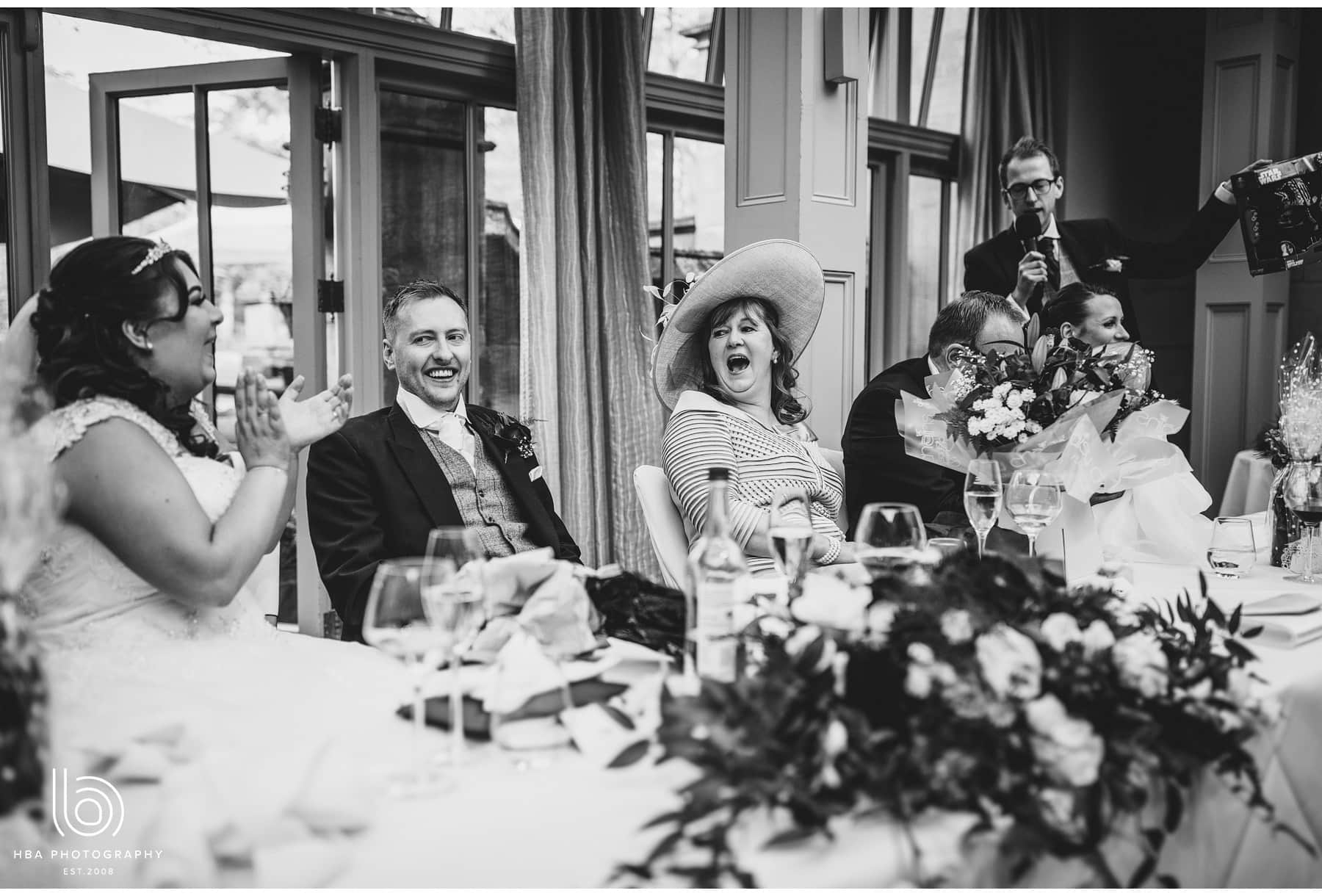 top table laughing