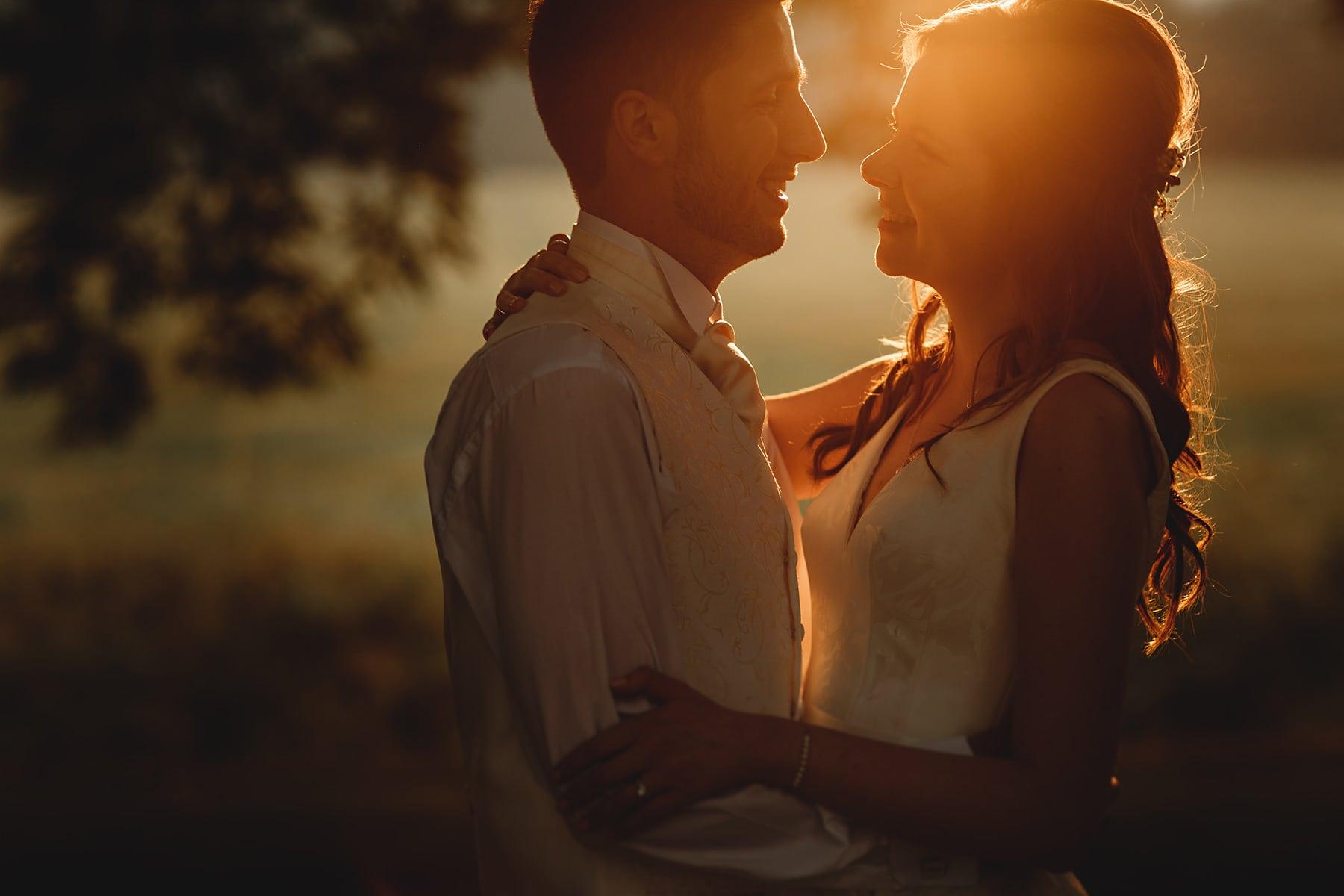 tissingotn hall wedding photos at golden hour sunset