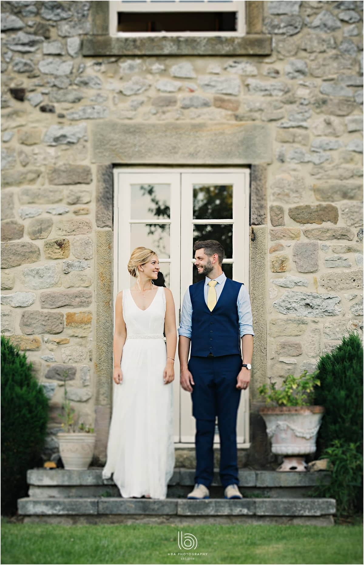 the bride and groom at SHiningford Farm