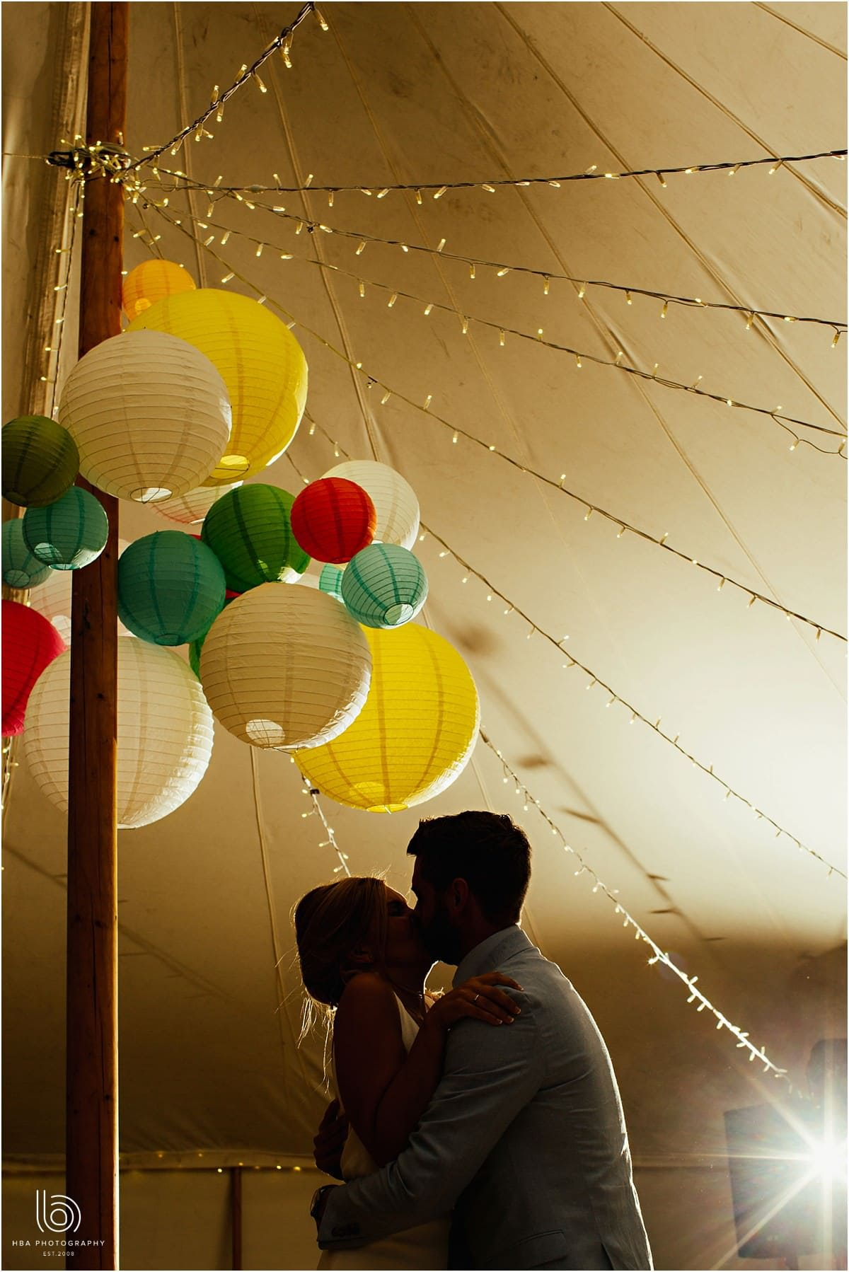 the first dance in the petal marquee