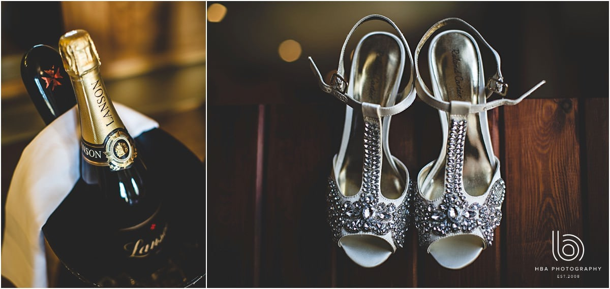 the wedding shoes in detail