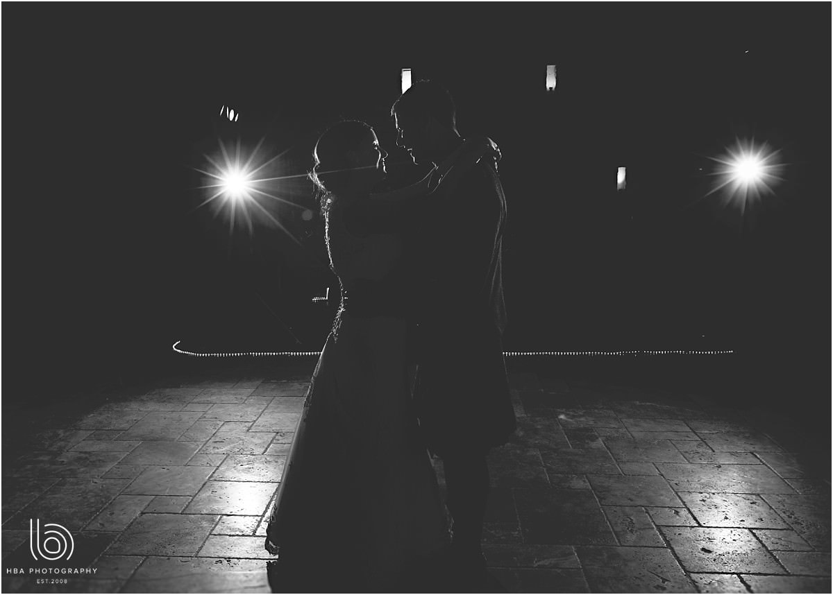 black and white photo of the first dance at Swancar Farm Country House