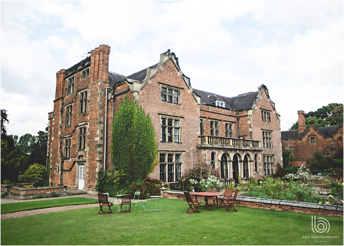 A photo of Thrumpton Hall from the rear garden