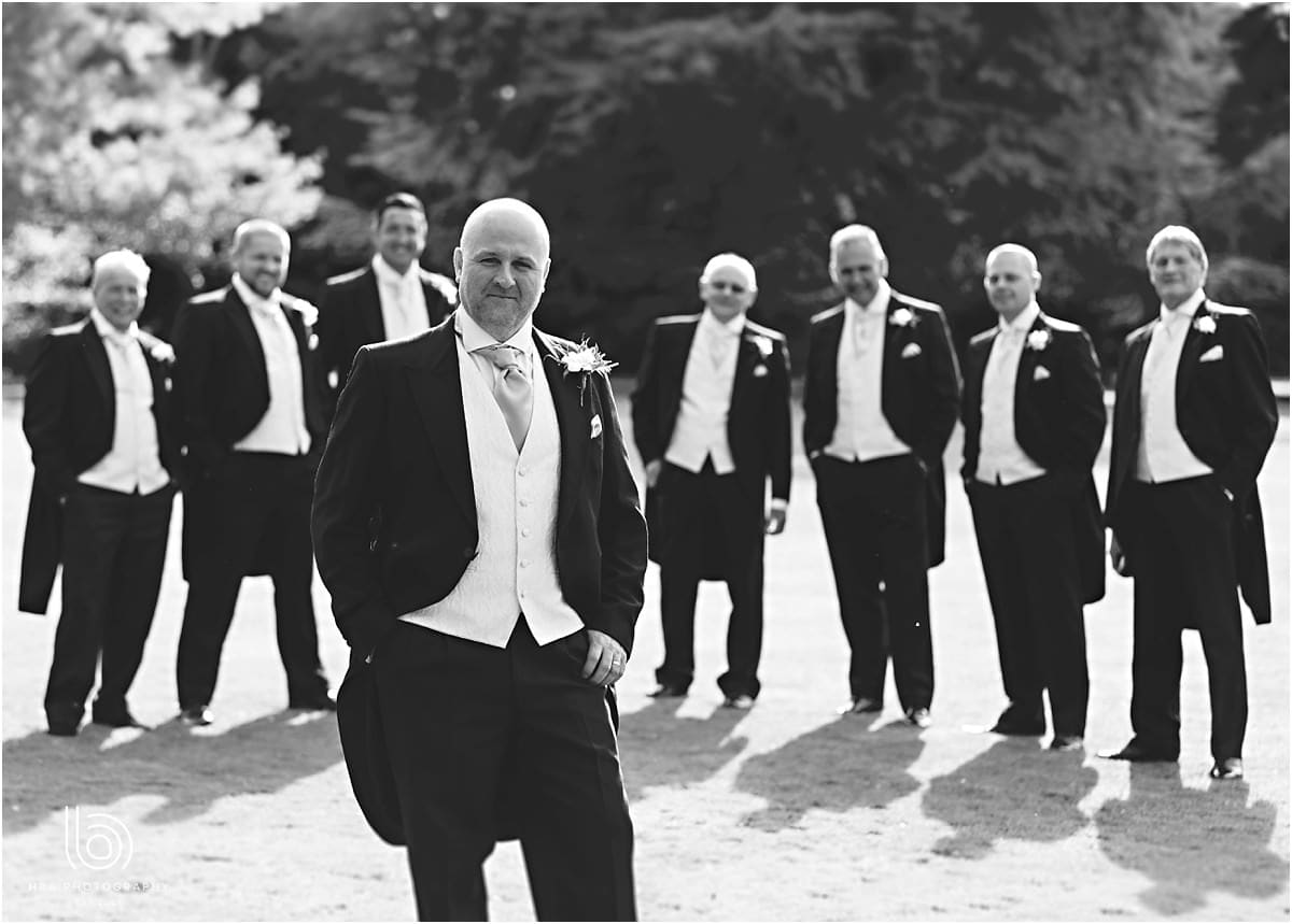 the groom with all his groomsmen