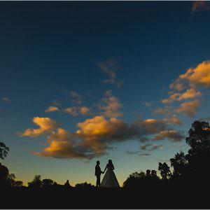 Osmaston Park wedding silhouette