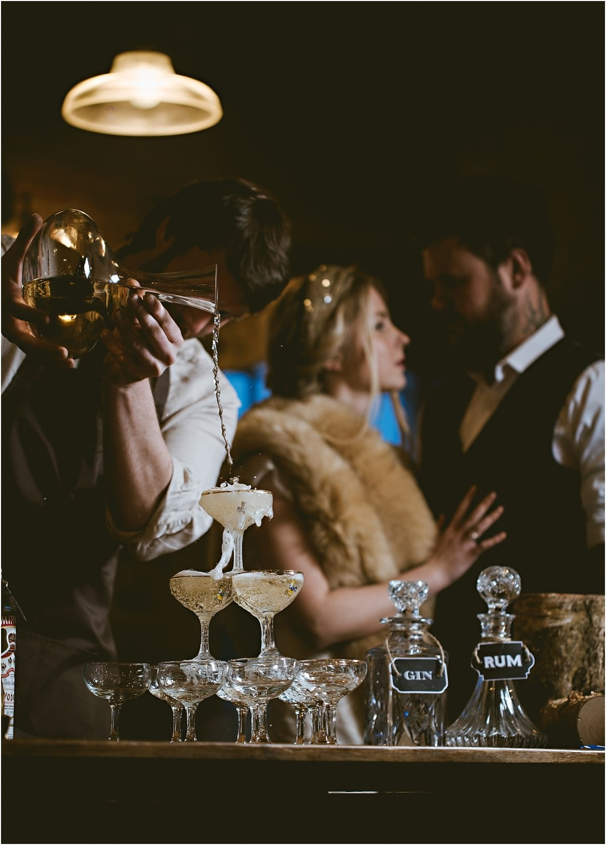 cocktails at the wedding