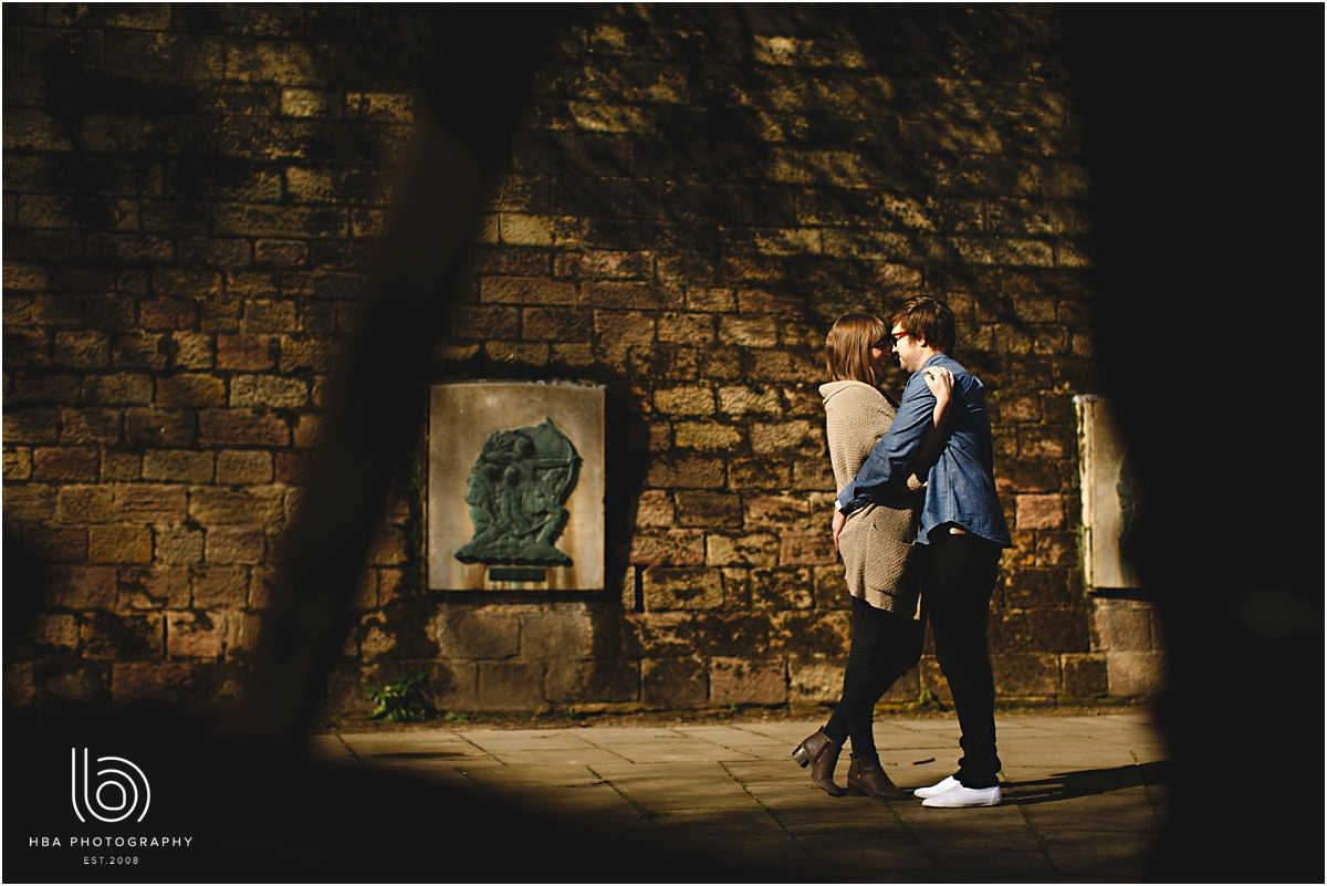 engaged couple in Nottingham