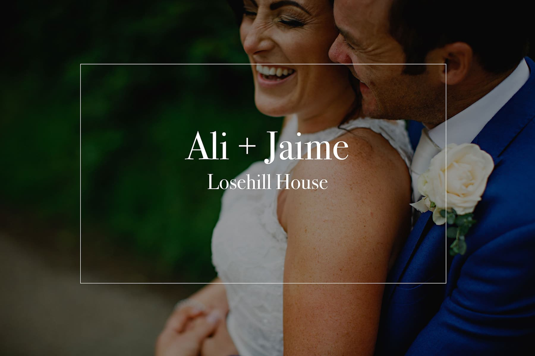 Wedding photos at Losehill House in Derbyshire - the bride and groom holding each other