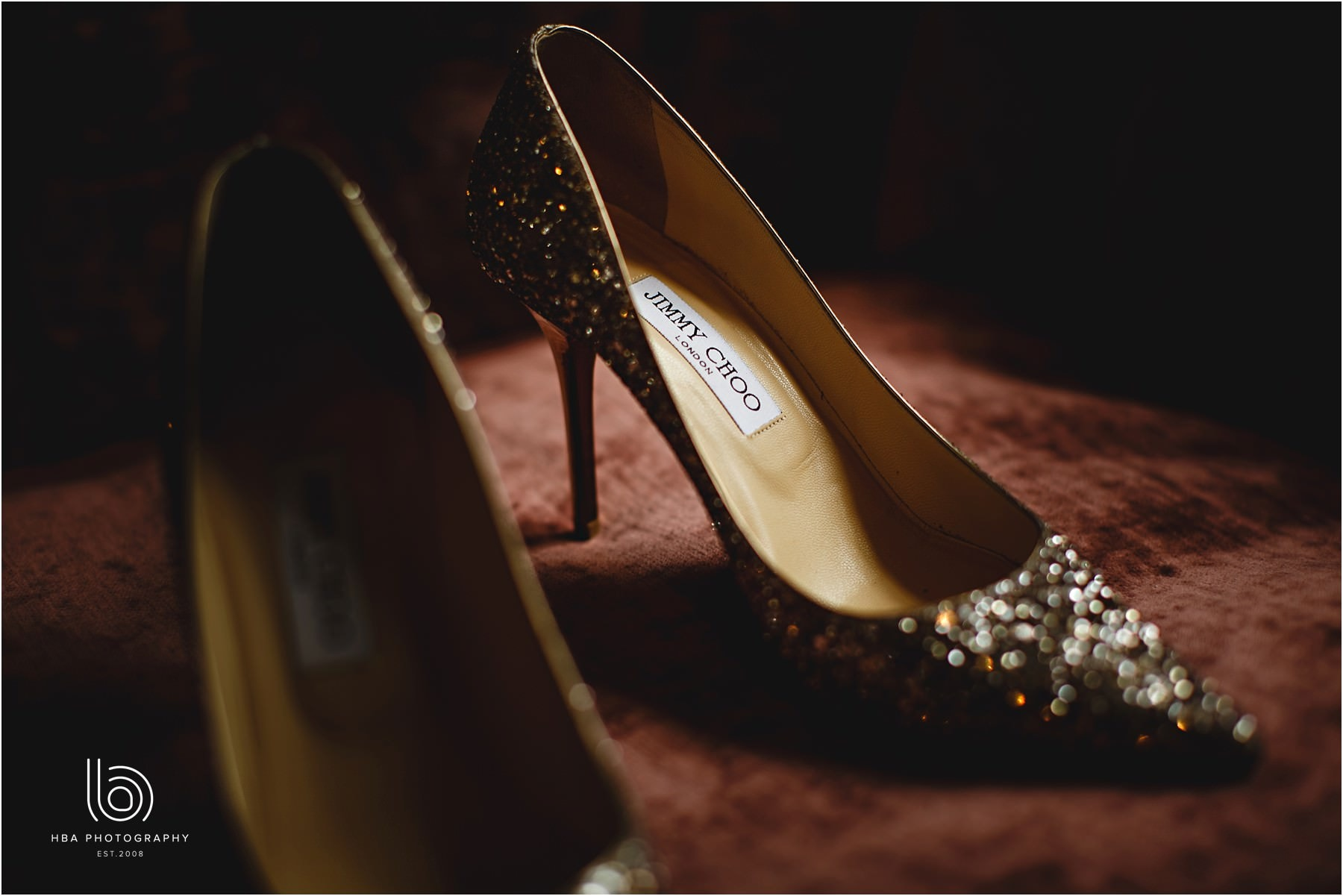 the bride's Jimmy Choo shows