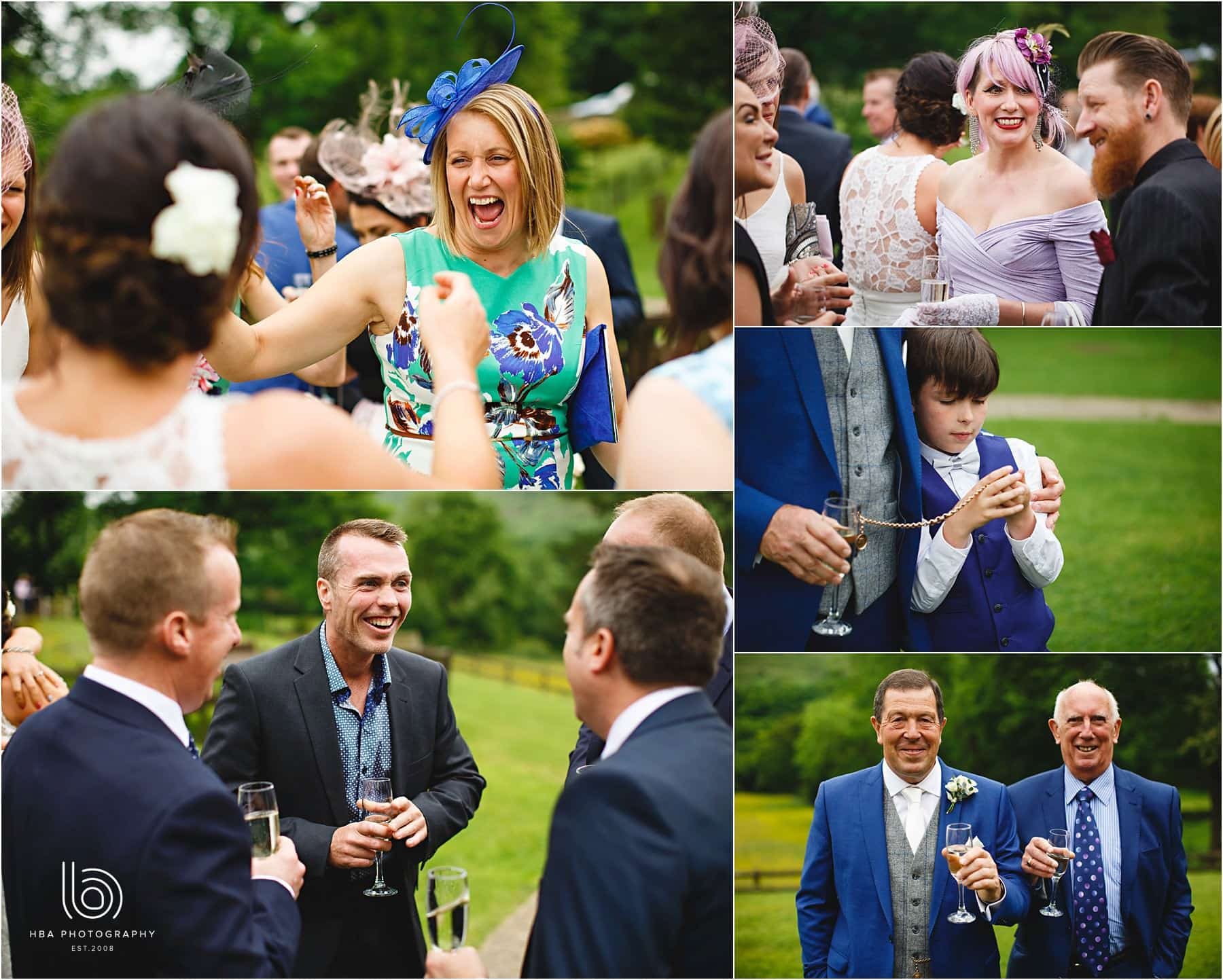all the weddings guests having a great time