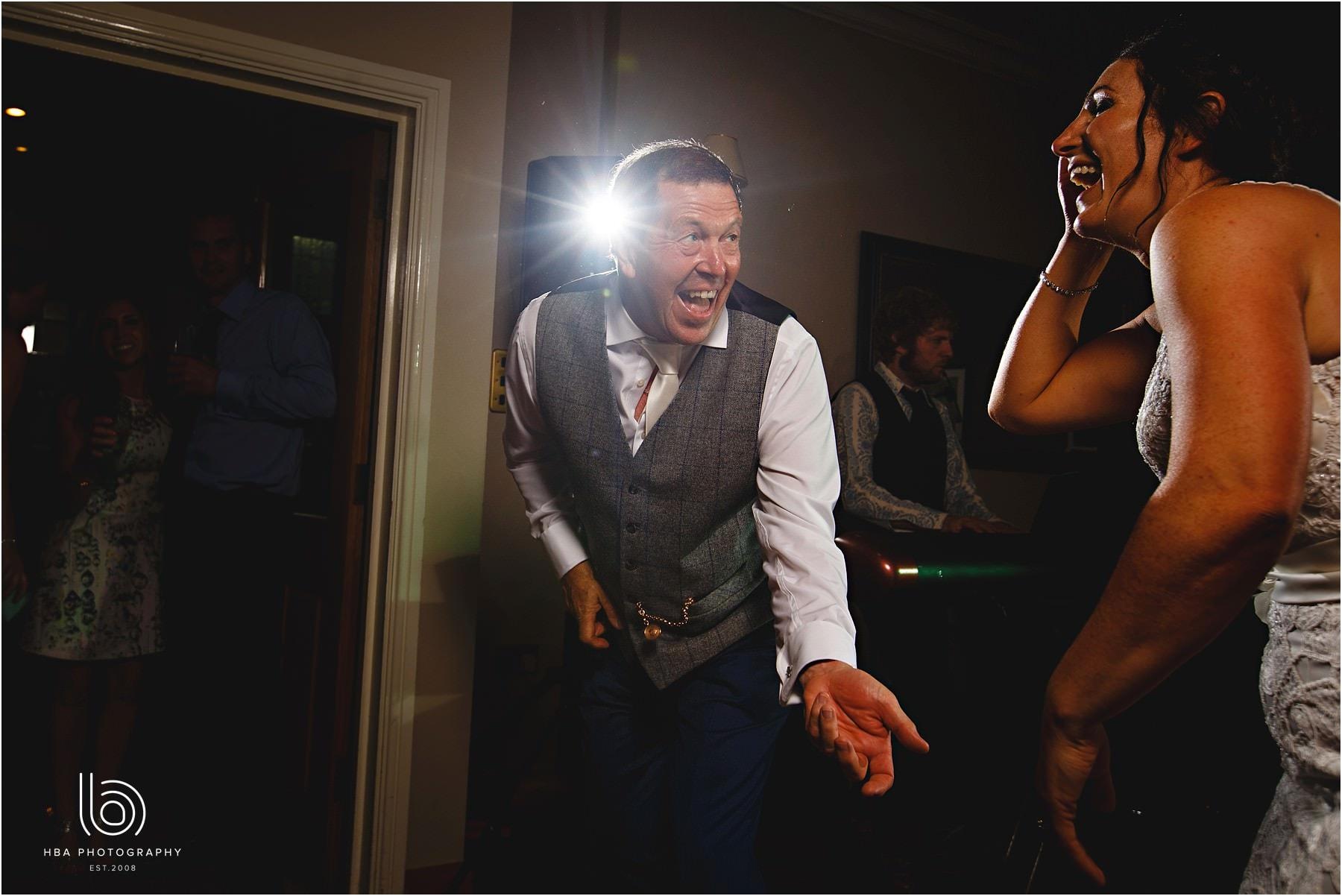 the bride's dad dancing