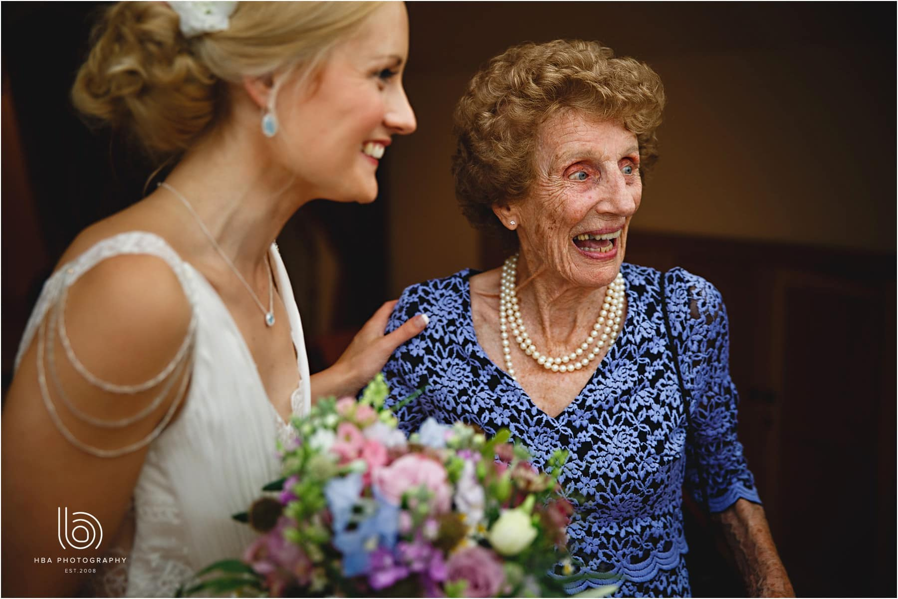 the bride and her grandma