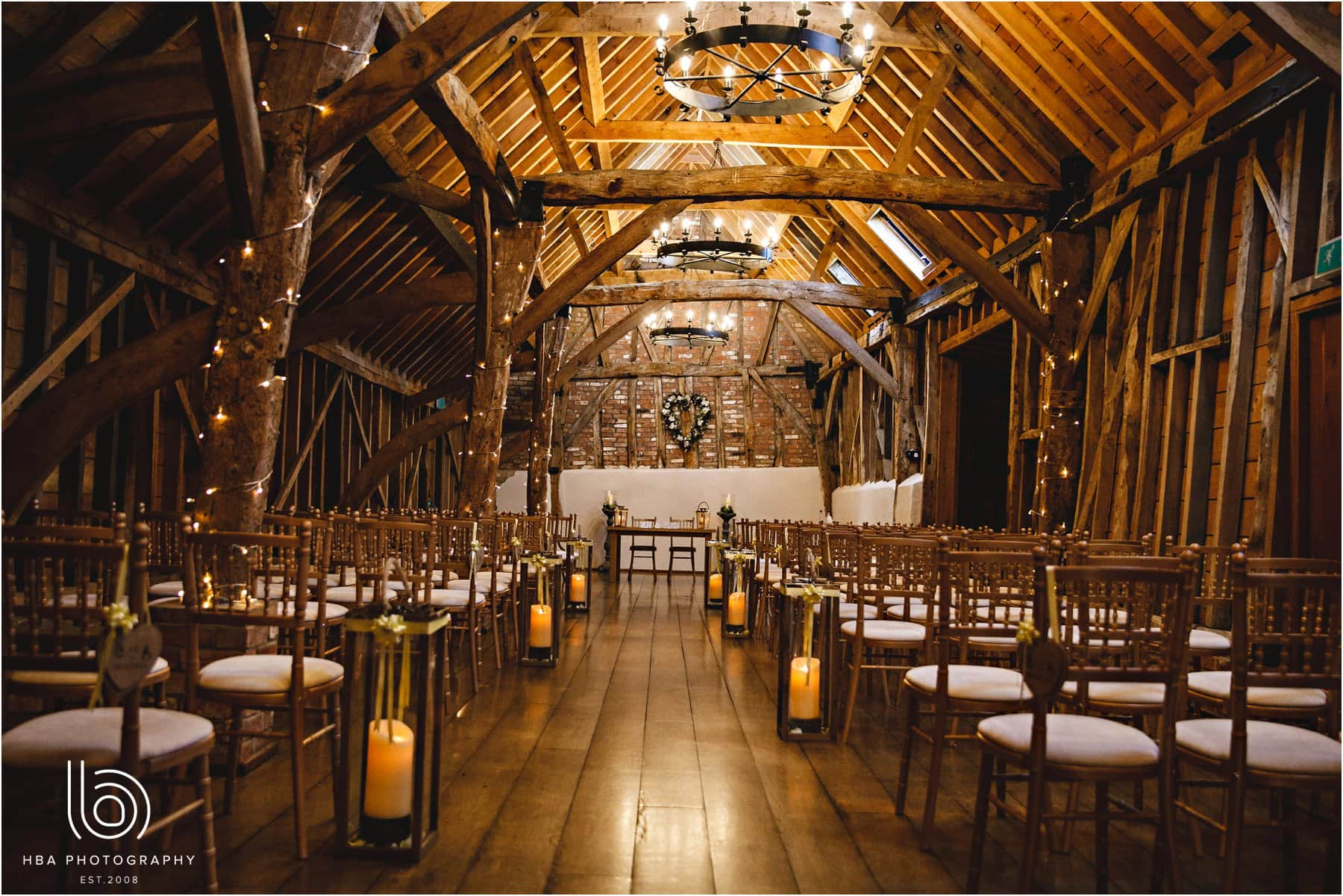 the ceremony room at Bassmead Manor Farm