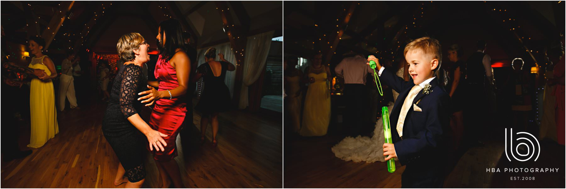 the wedding guests dancing