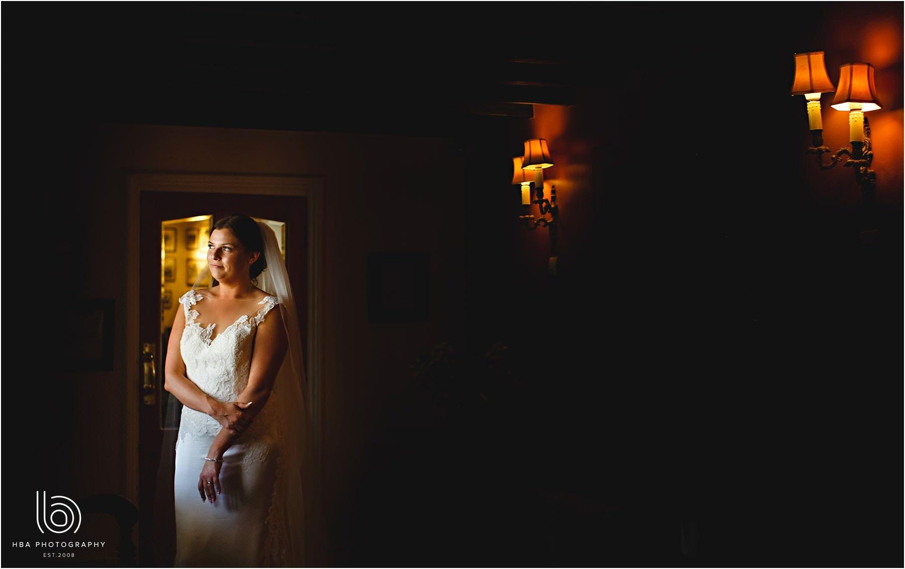the bride in a corridor