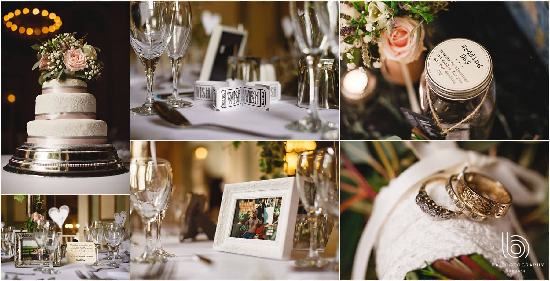 wedding favours on the tables