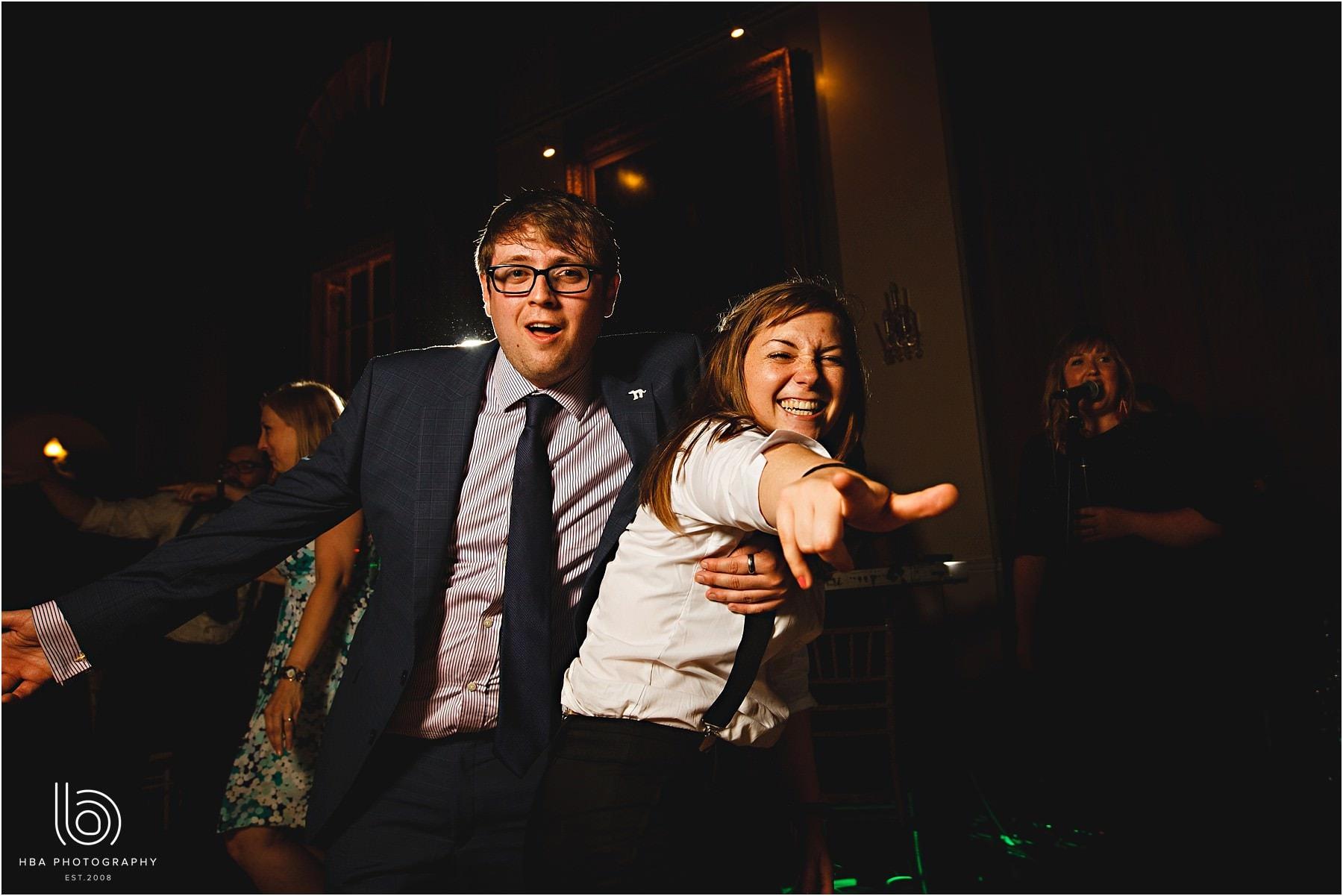 more wedding guests dancing