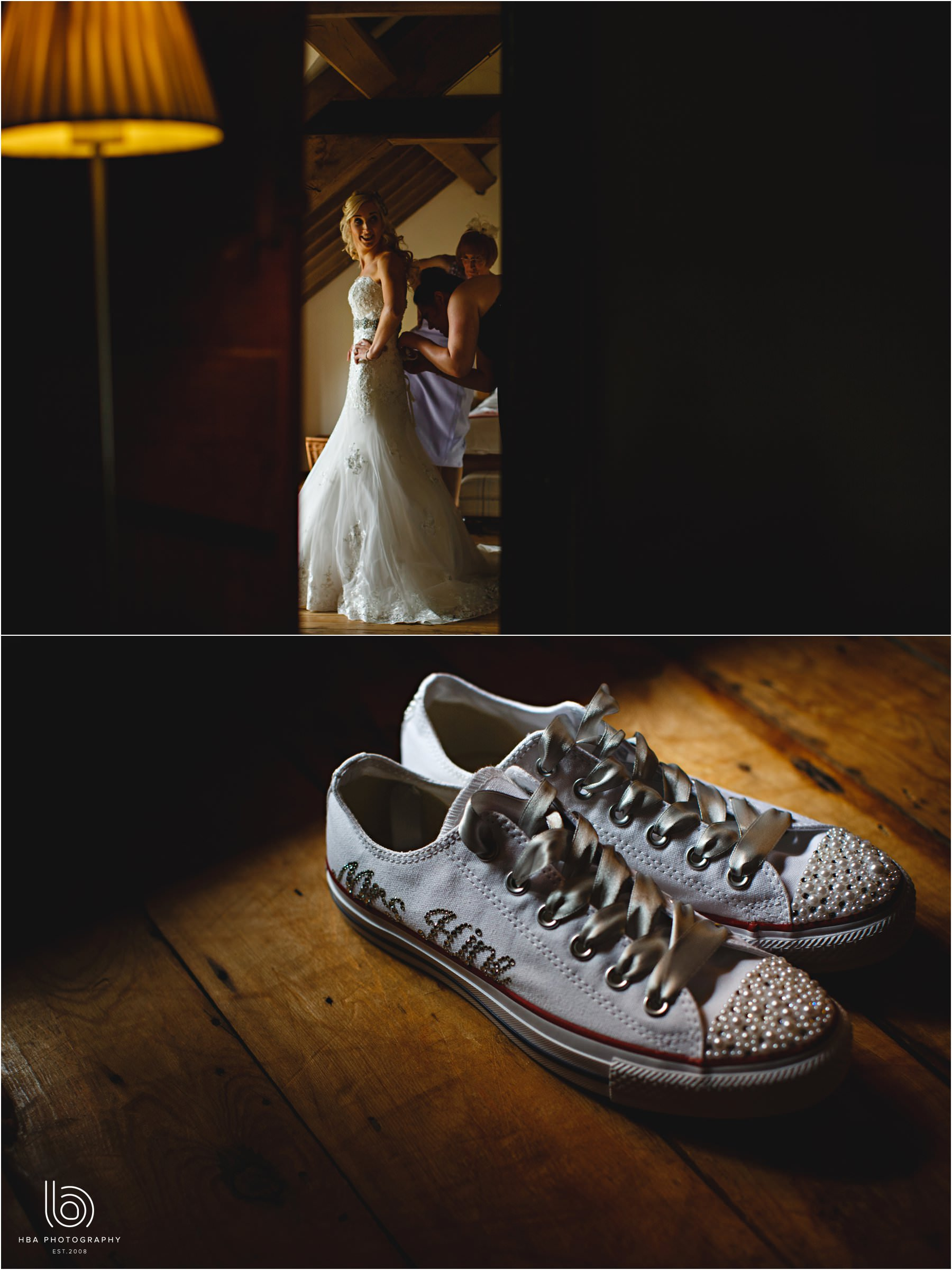 the bride's converse trainers
